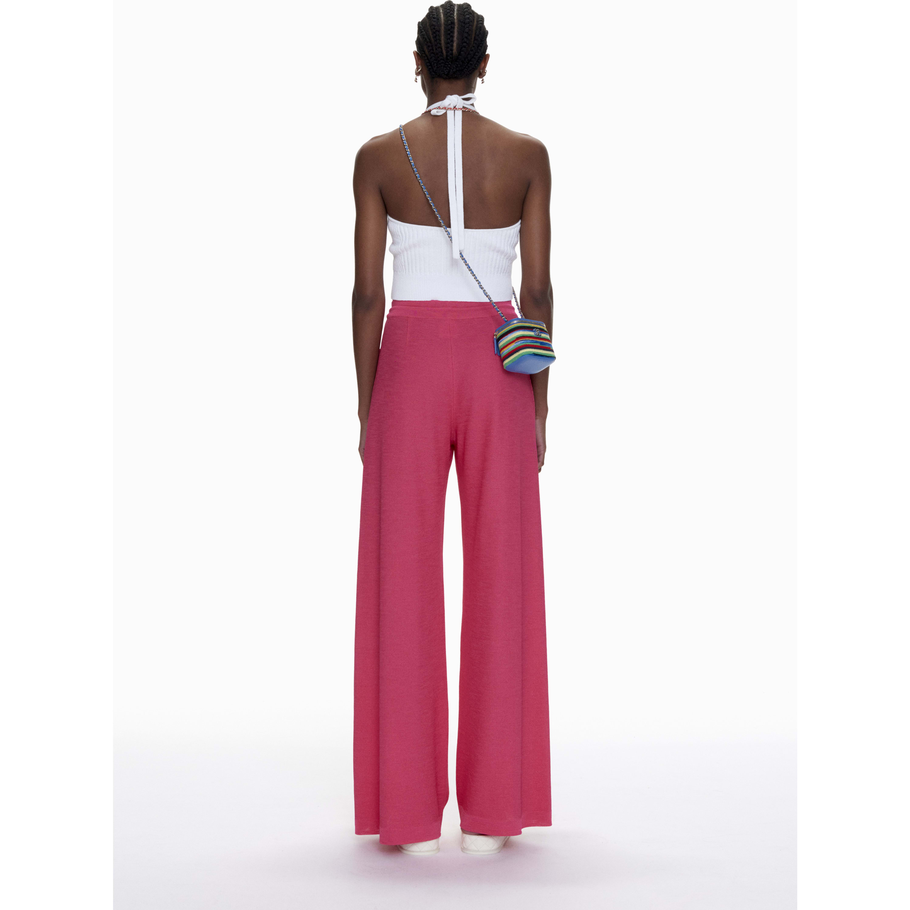 Trousers - Pink - Mixed Fibres - CHANEL - Alternative view - see standard sized version