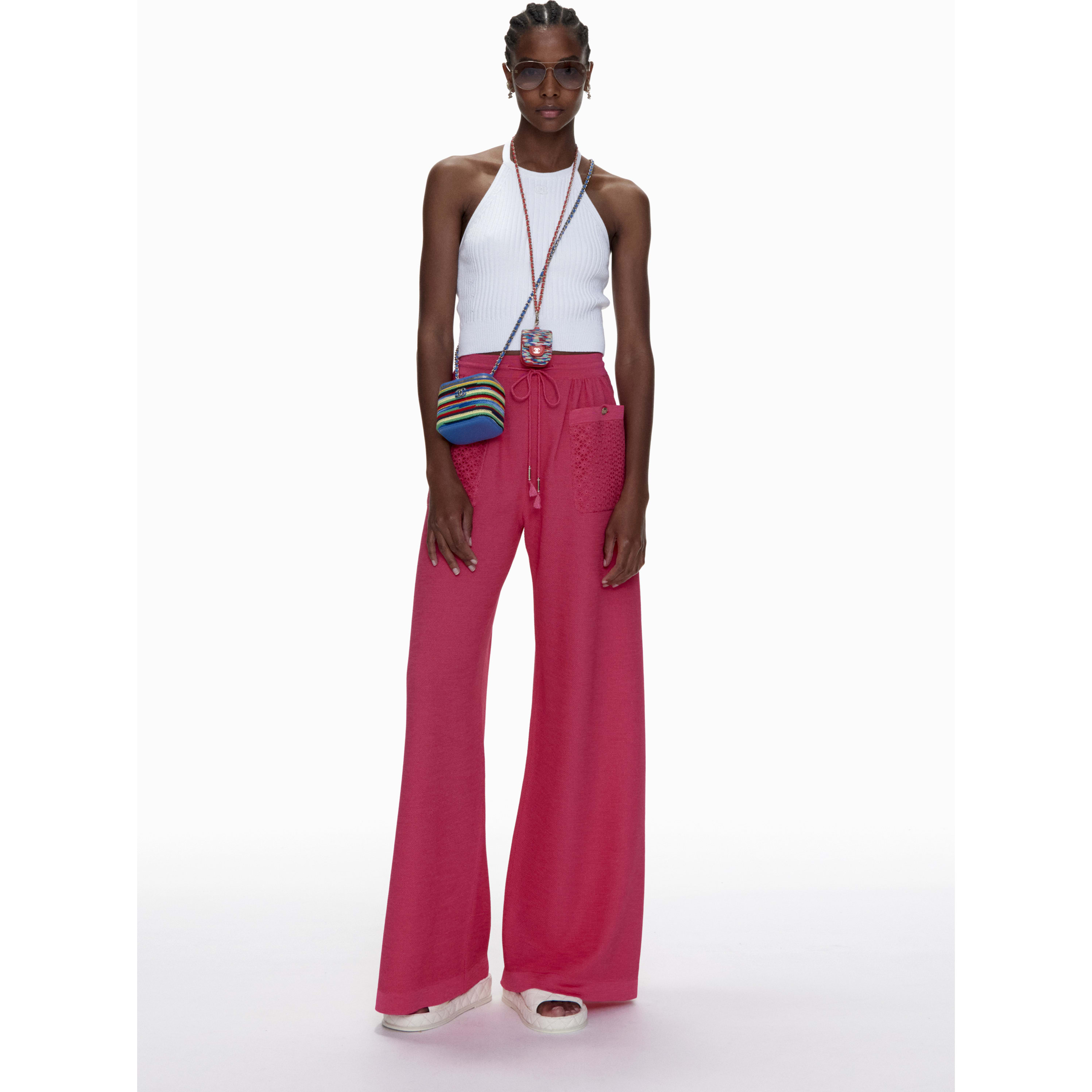 Trousers - Pink - Mixed Fibres - CHANEL - Default view - see standard sized version