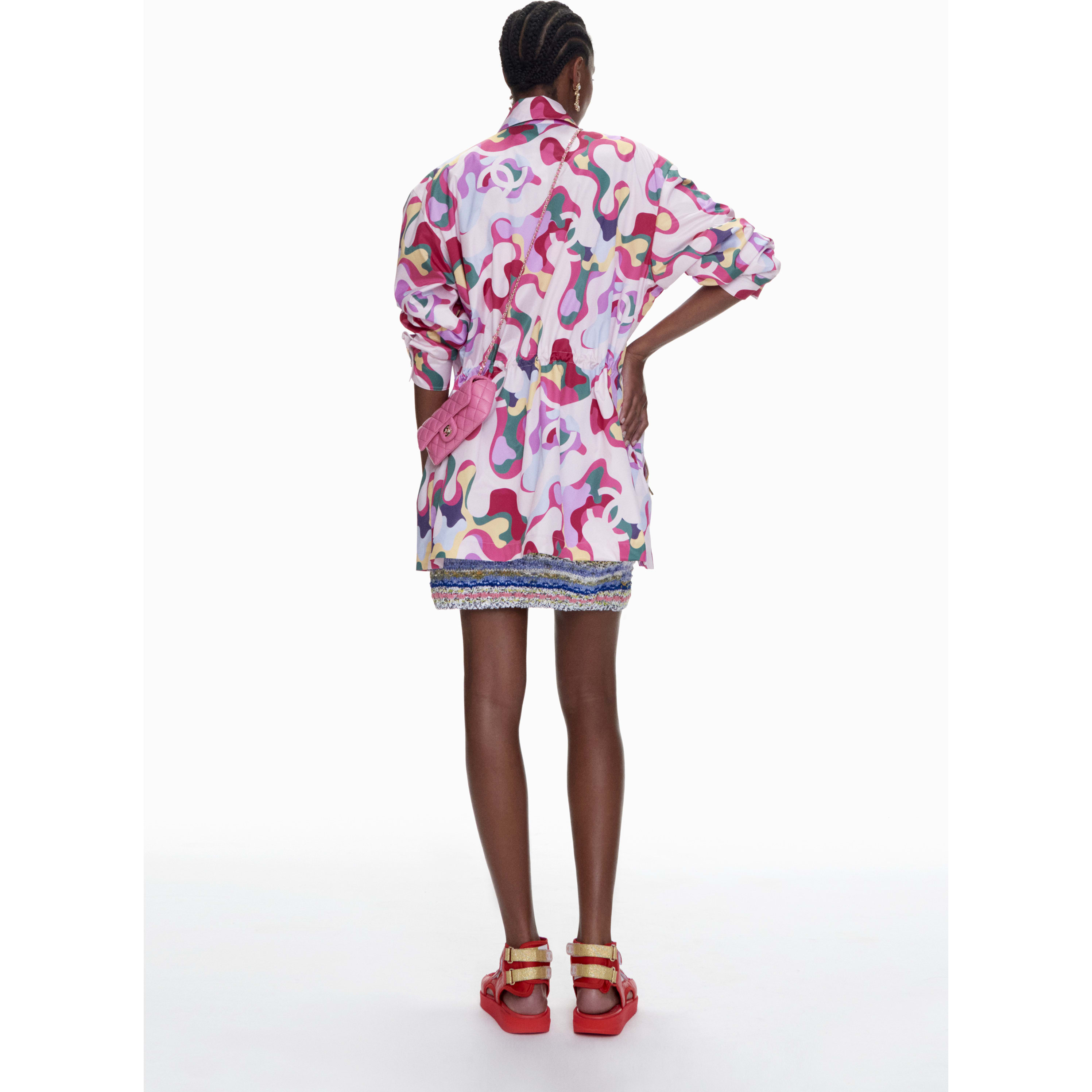 Parka - Multicolour - Printed Silk - CHANEL - Alternative view - see standard sized version