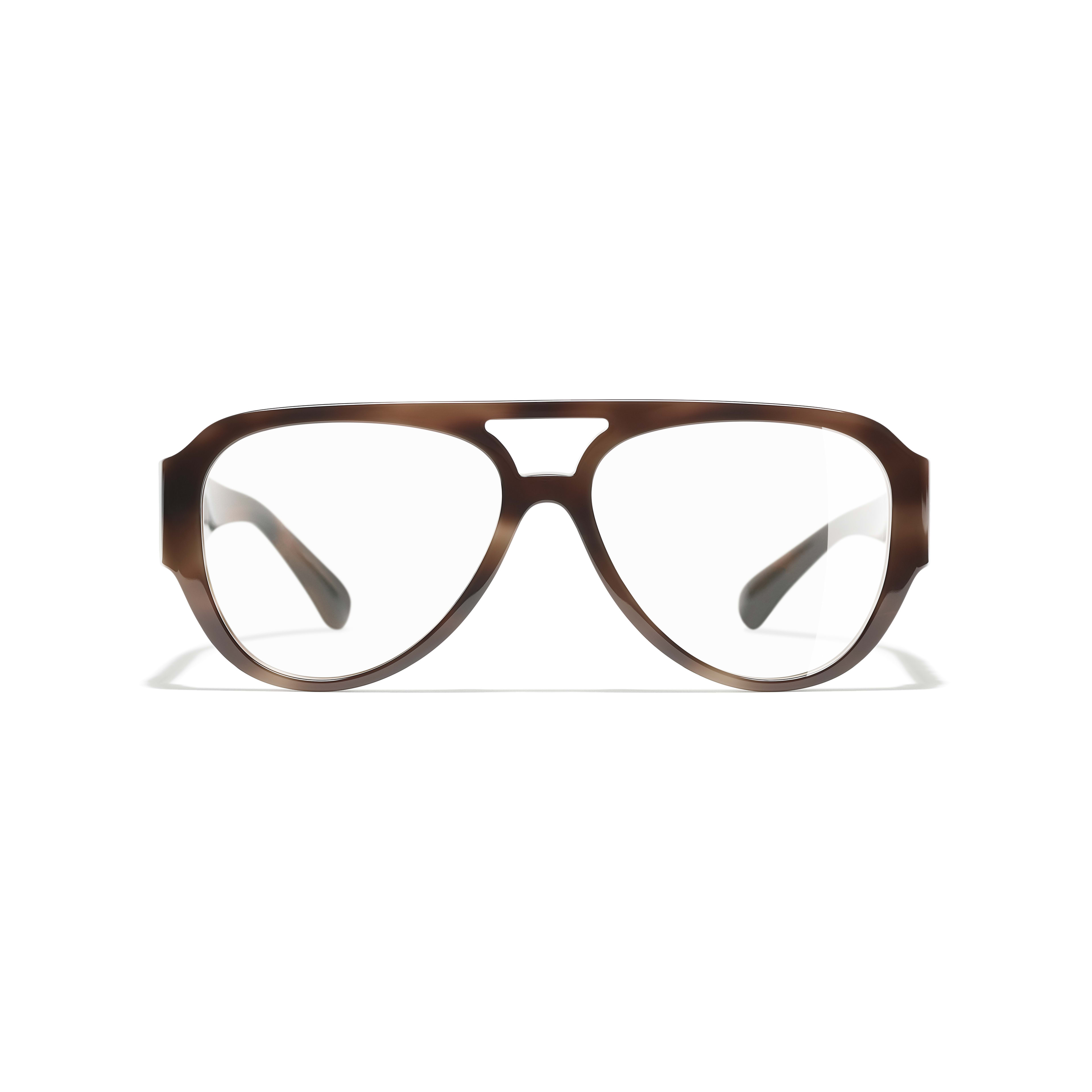 Pilot Eyeglasses - Brown - Acetate & Diamanté - Alternative view - see standard sized version