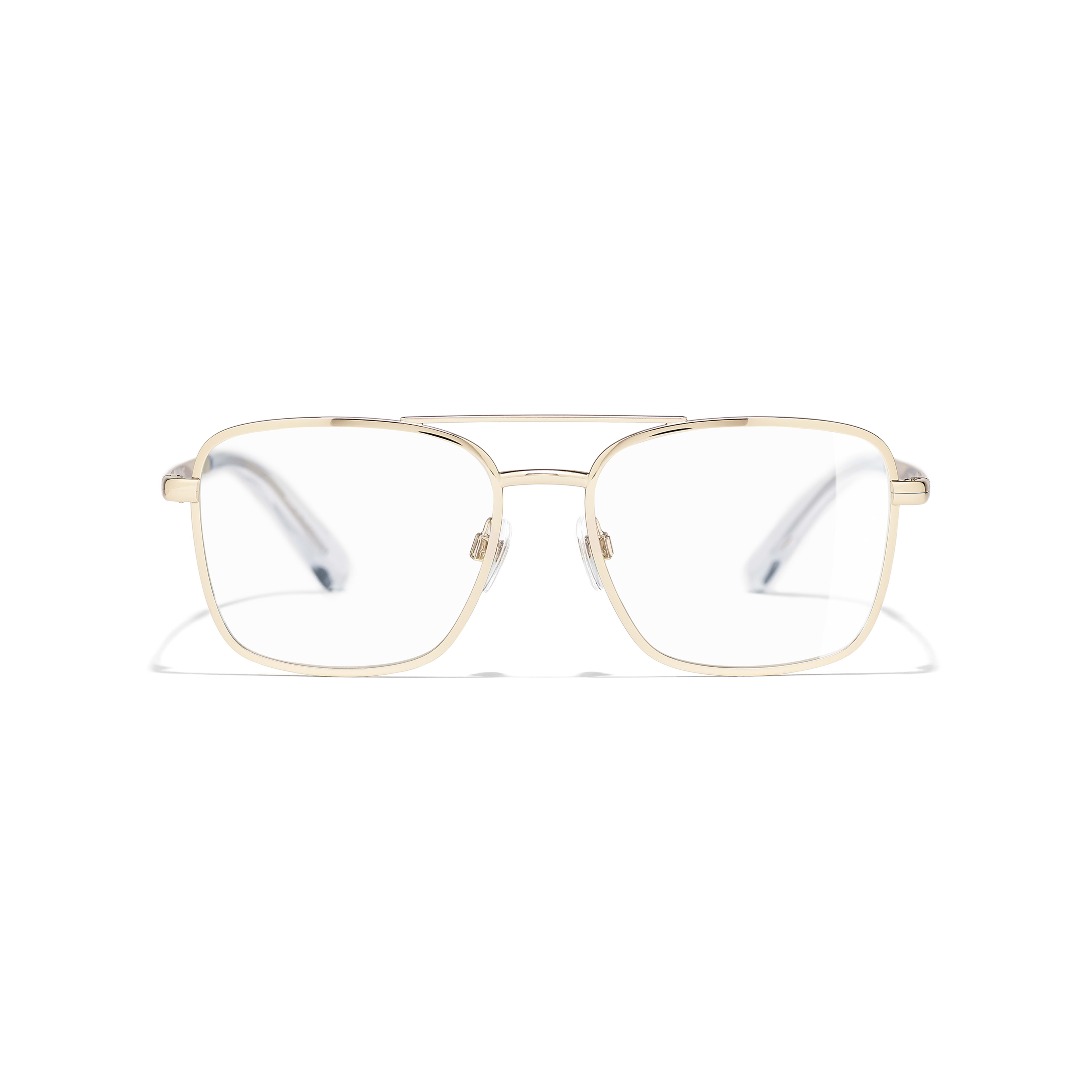 Pilot Eyeglasses - Gold - Metal - Alternative view - see standard sized version