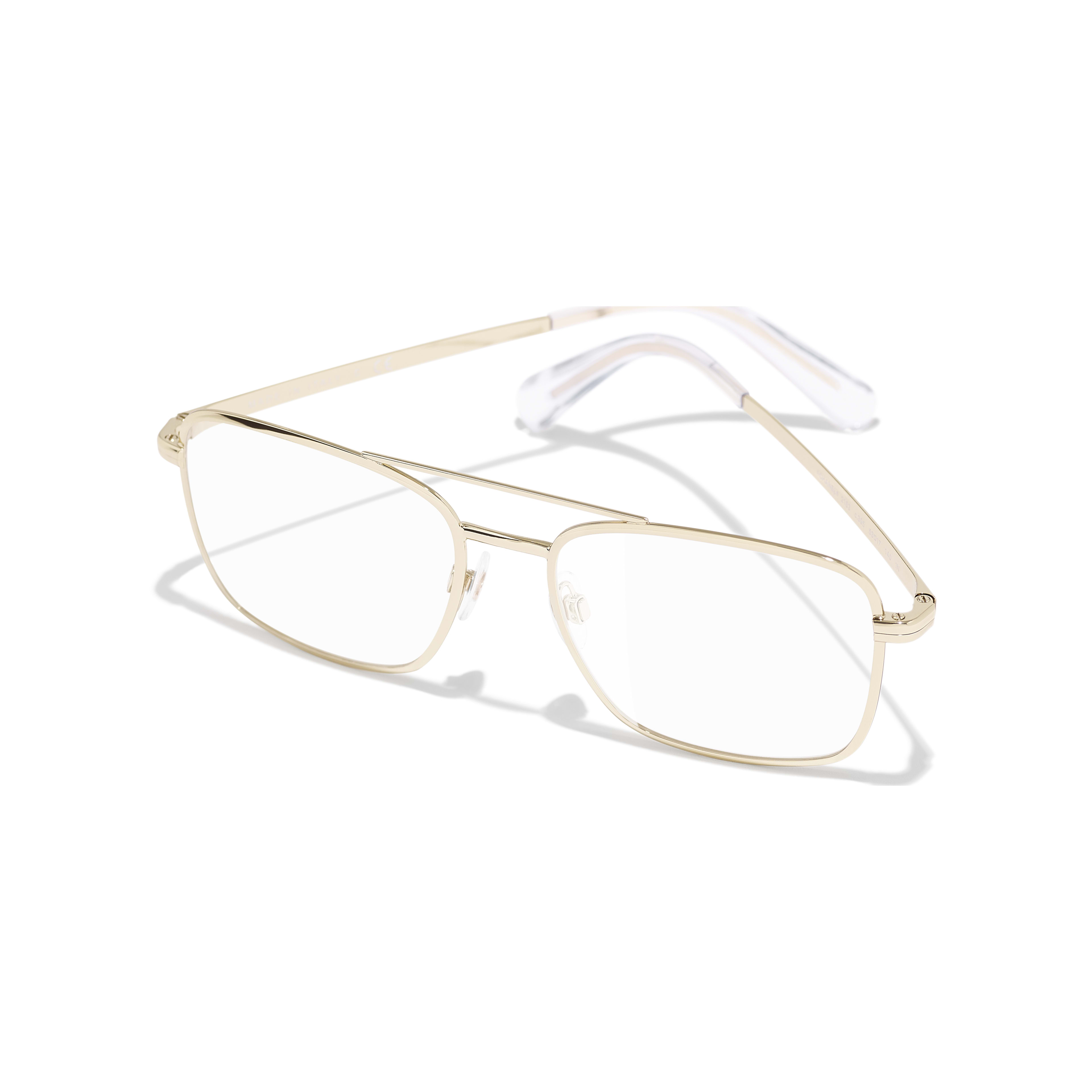 Pilot Eyeglasses - Gold - Metal - Extra view - see standard sized version