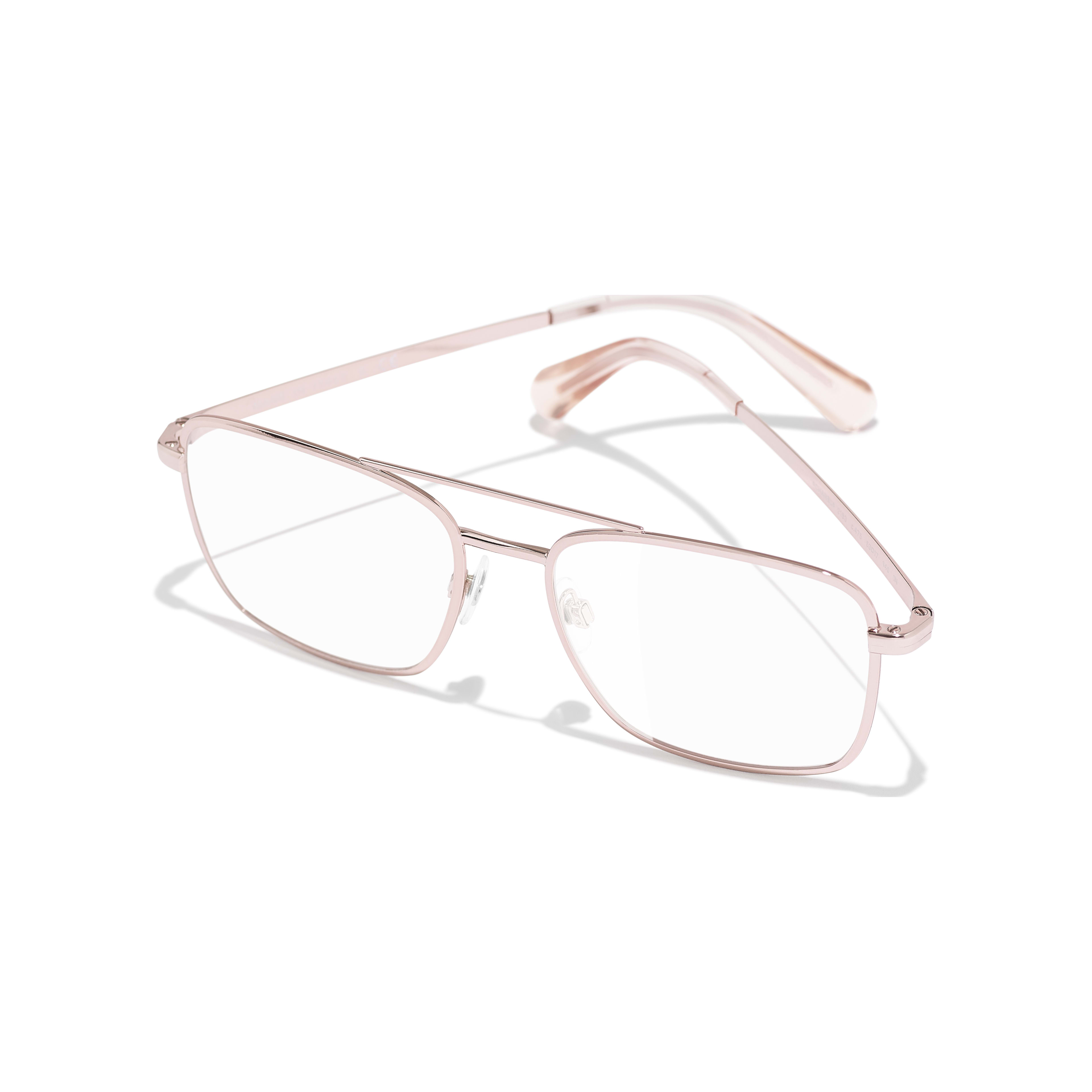 Pilot Eyeglasses - Pink Gold - Metal - Extra view - see standard sized version