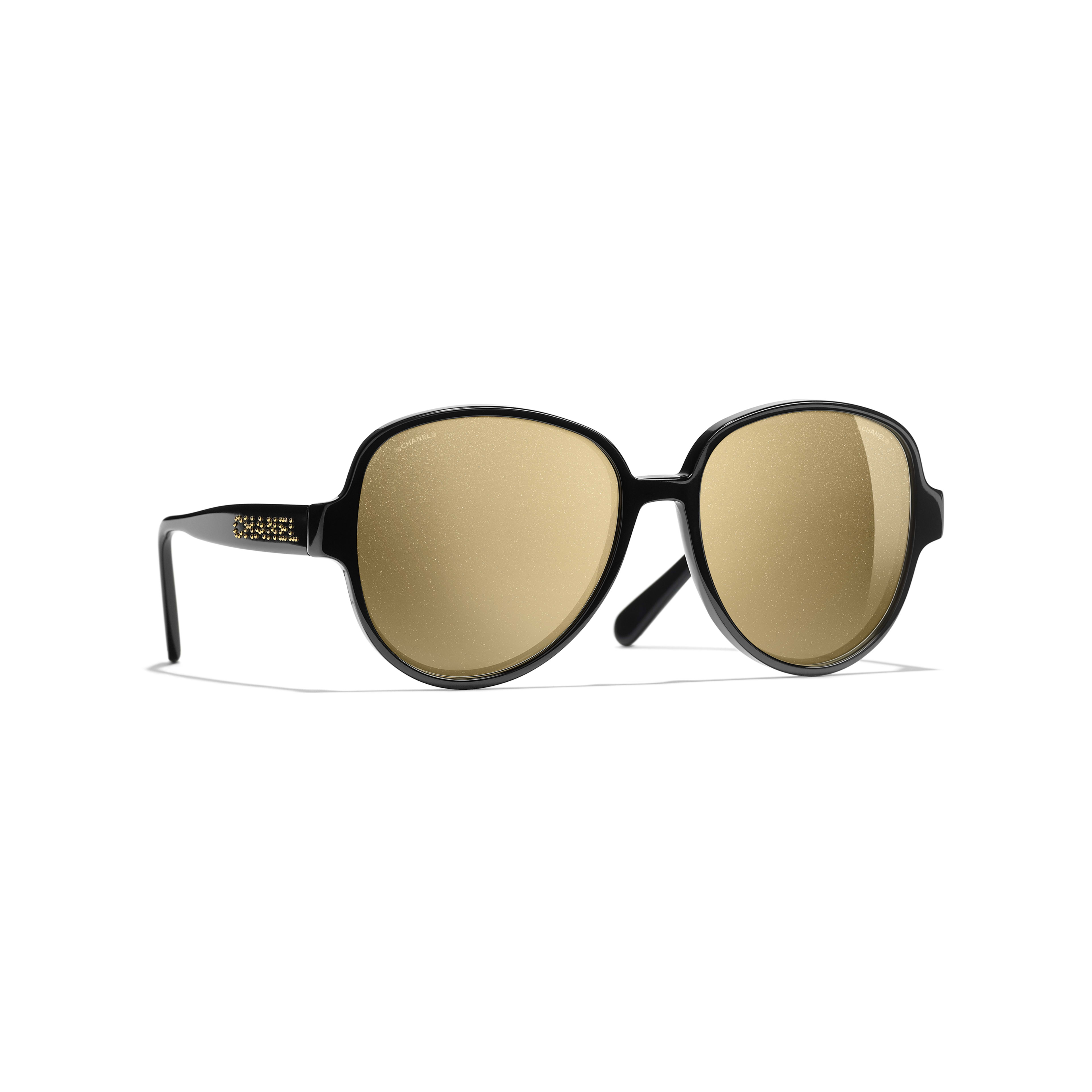 Pilot Sunglasses - Black - Acetate - Default view - see standard sized version