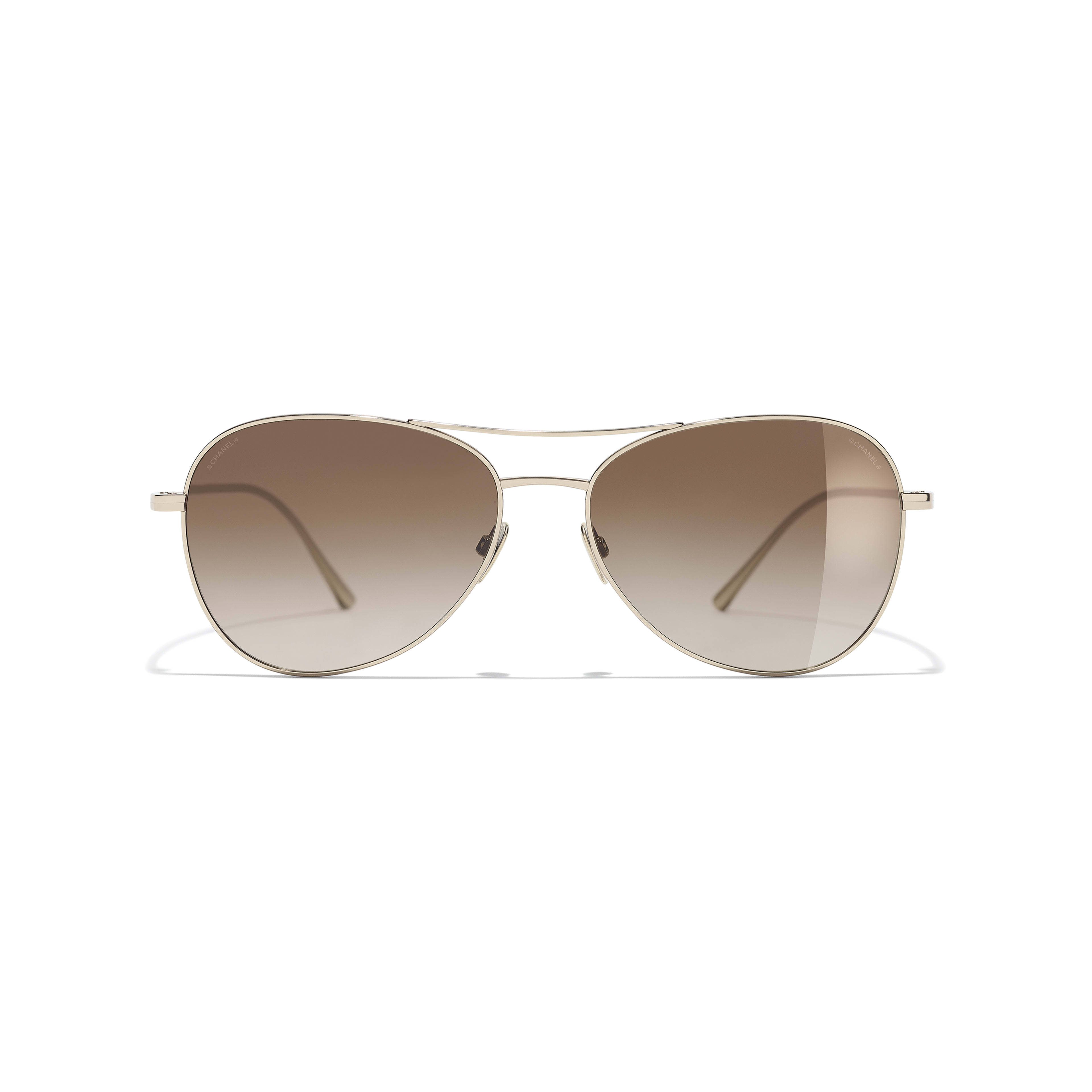 Pilot Sunglasses - Gold - Titanium - CHANEL - Alternative view - see standard sized version