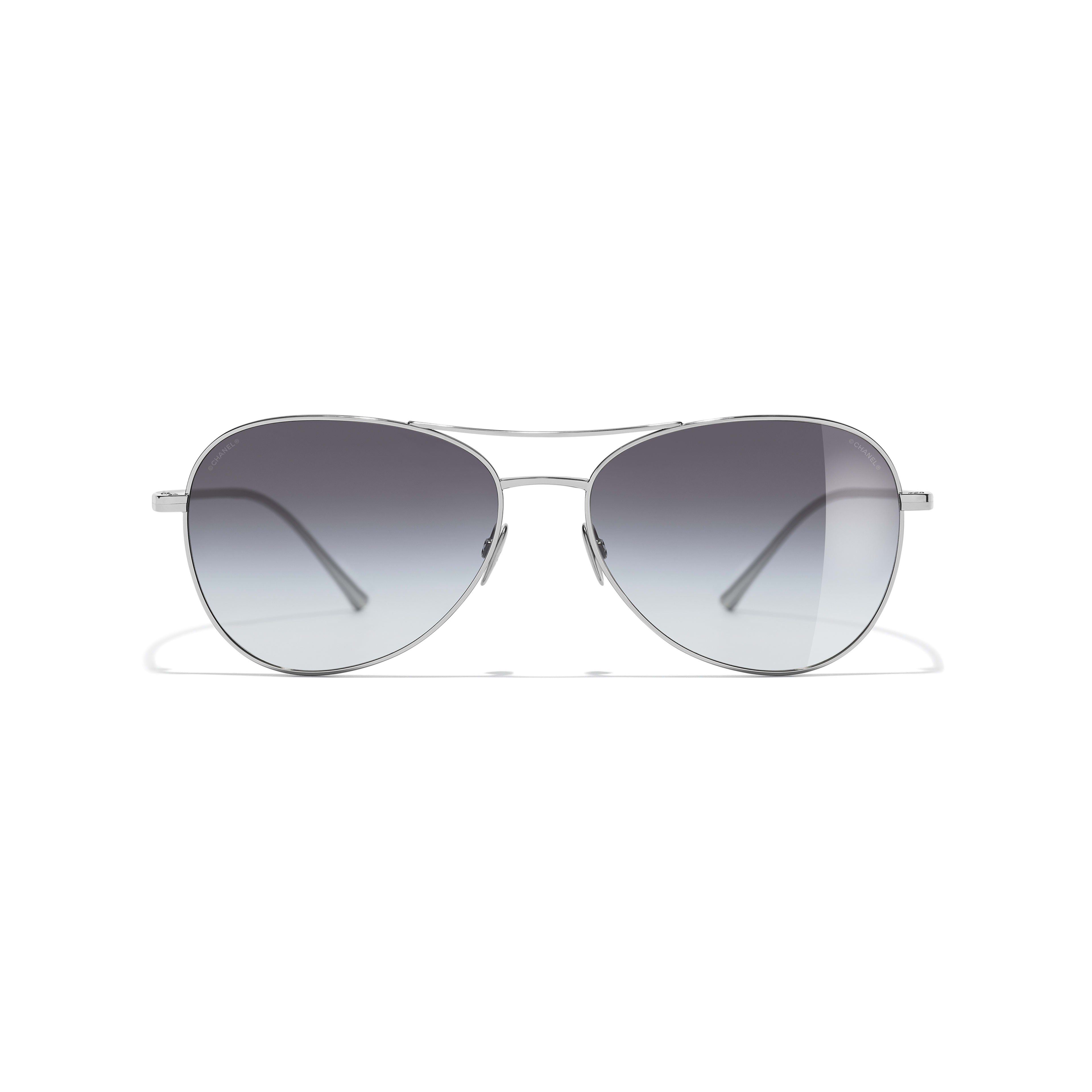 Pilot Sunglasses - Silver - Titanium - Alternative view - see standard sized version