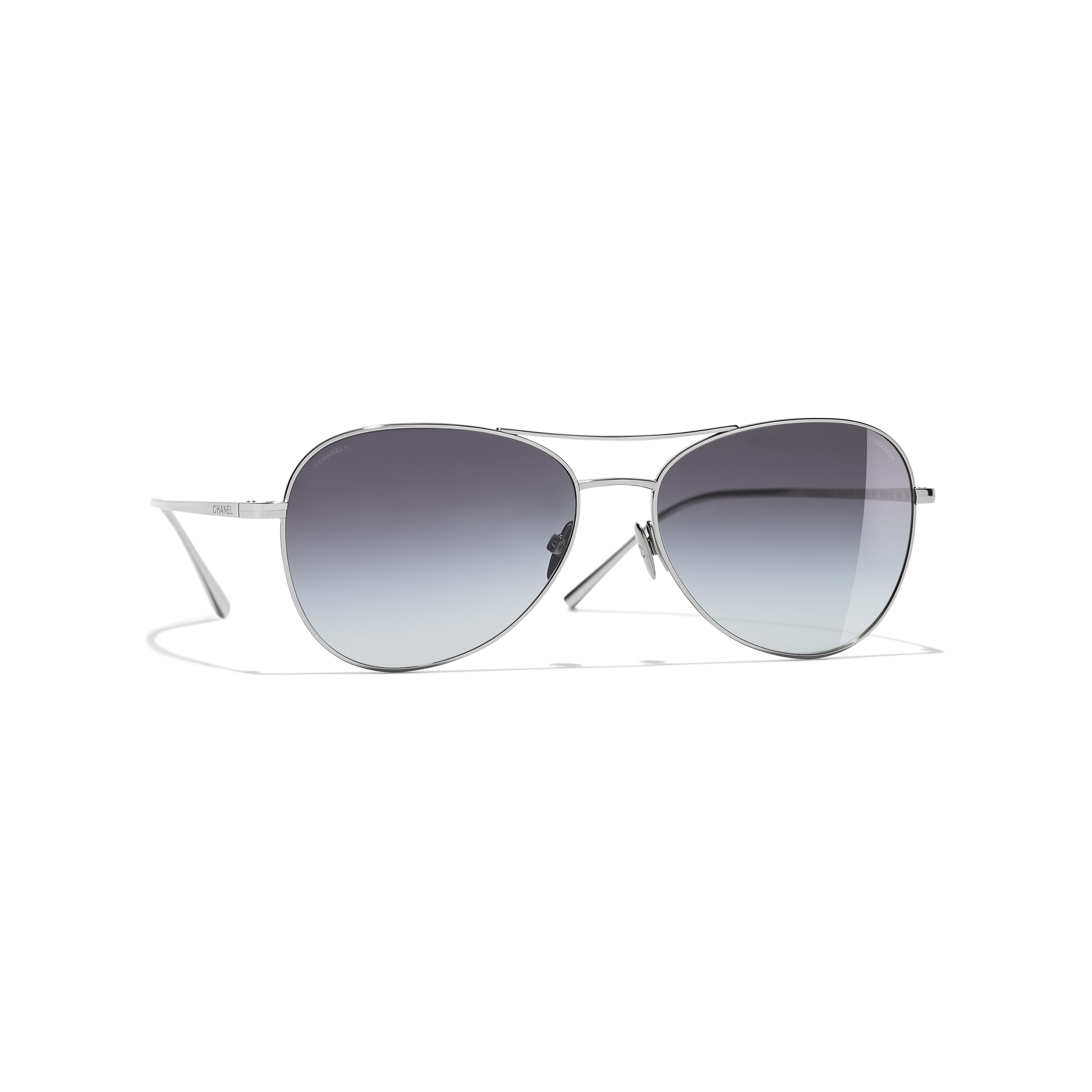 Pilot Sunglasses - Silver - Titanium - Default view - see standard sized version