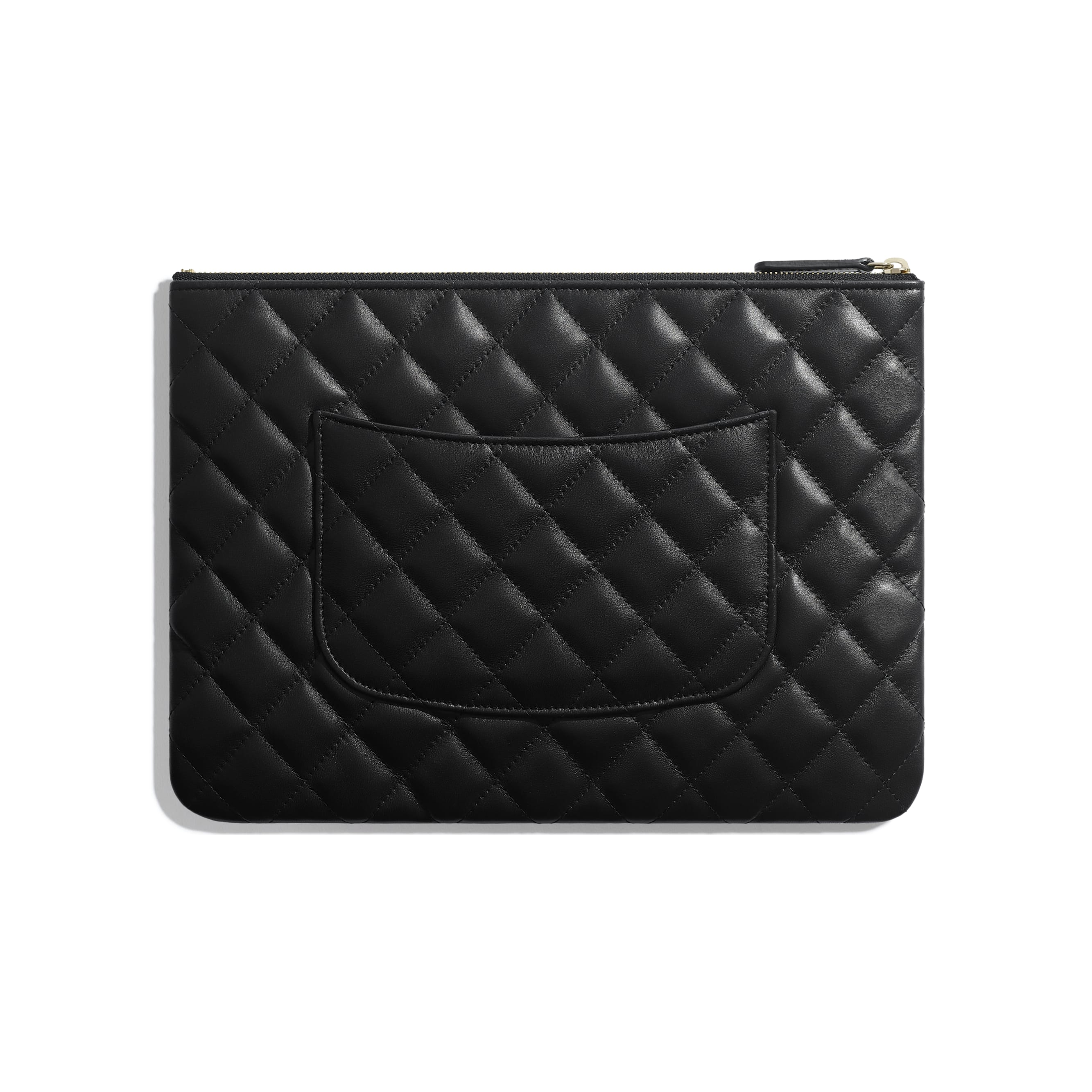 Pouch - Black - Lambskin - Alternative view - see standard sized version