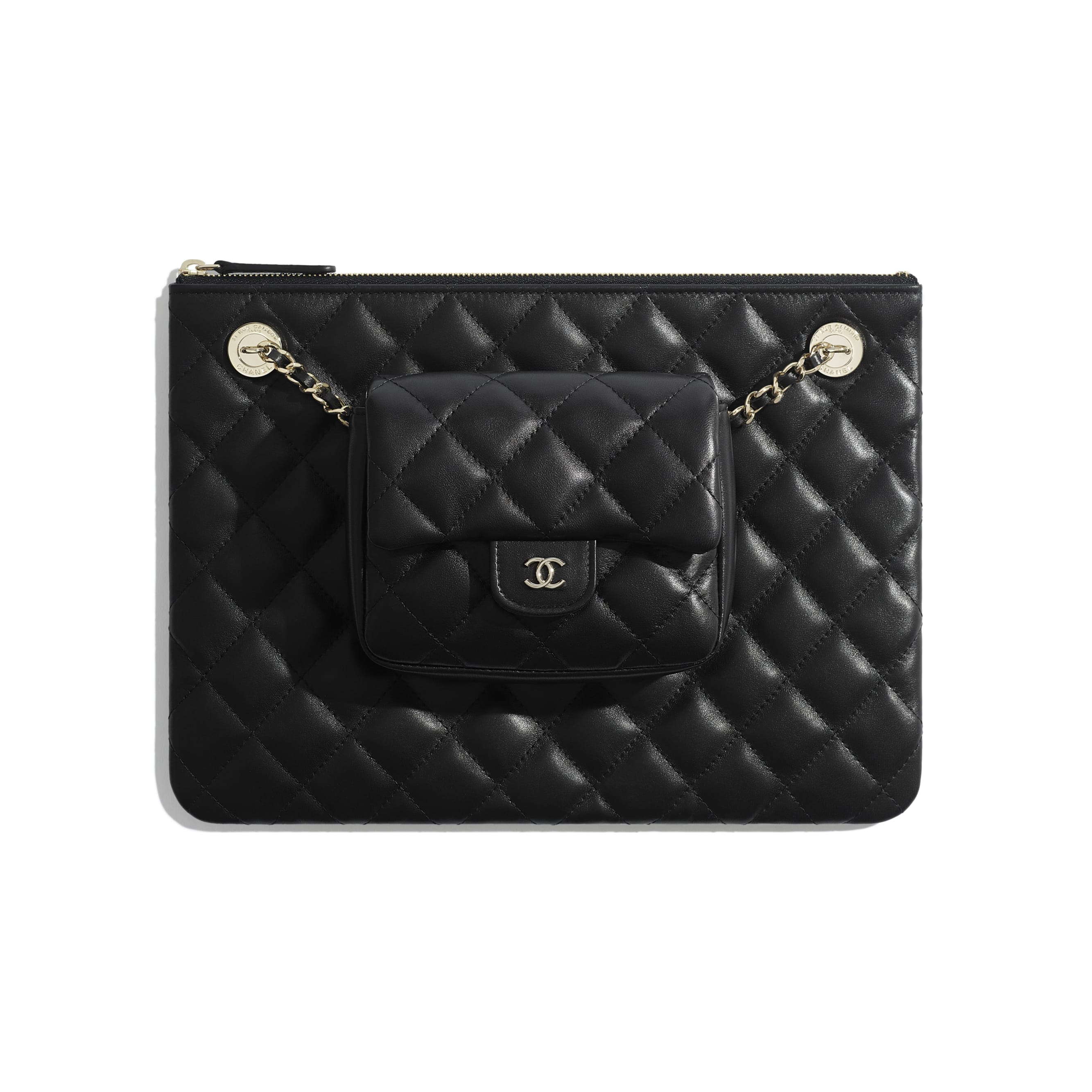 Pouch - Black - Lambskin - Default view - see standard sized version