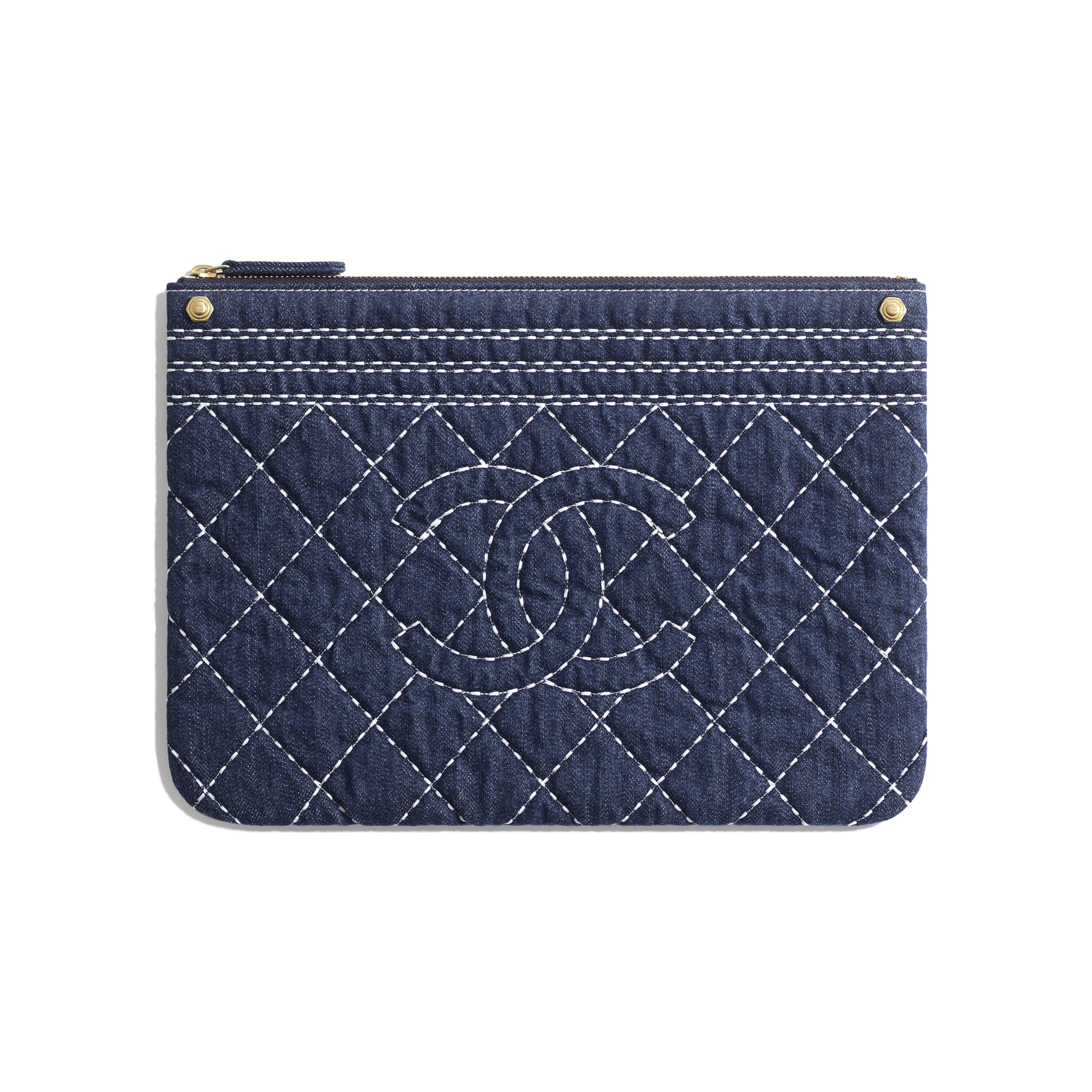 Pouch - Blue - Denim & Gold Metal - Default view - see standard sized version