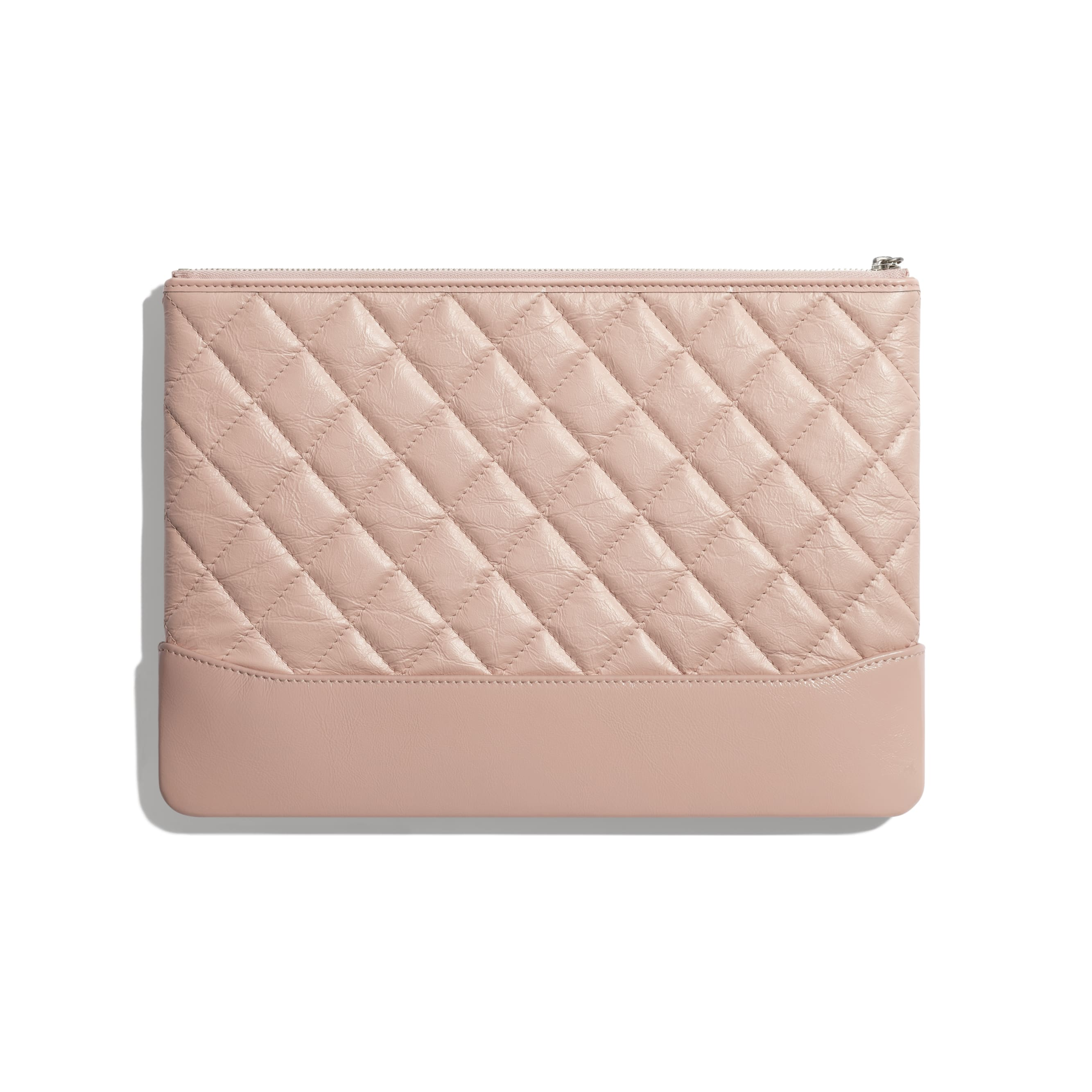 Pouch - Light Pink - Aged Calfskin, Smooth Calfskin & Gold-Tone Metal - CHANEL - Alternative view - see standard sized version