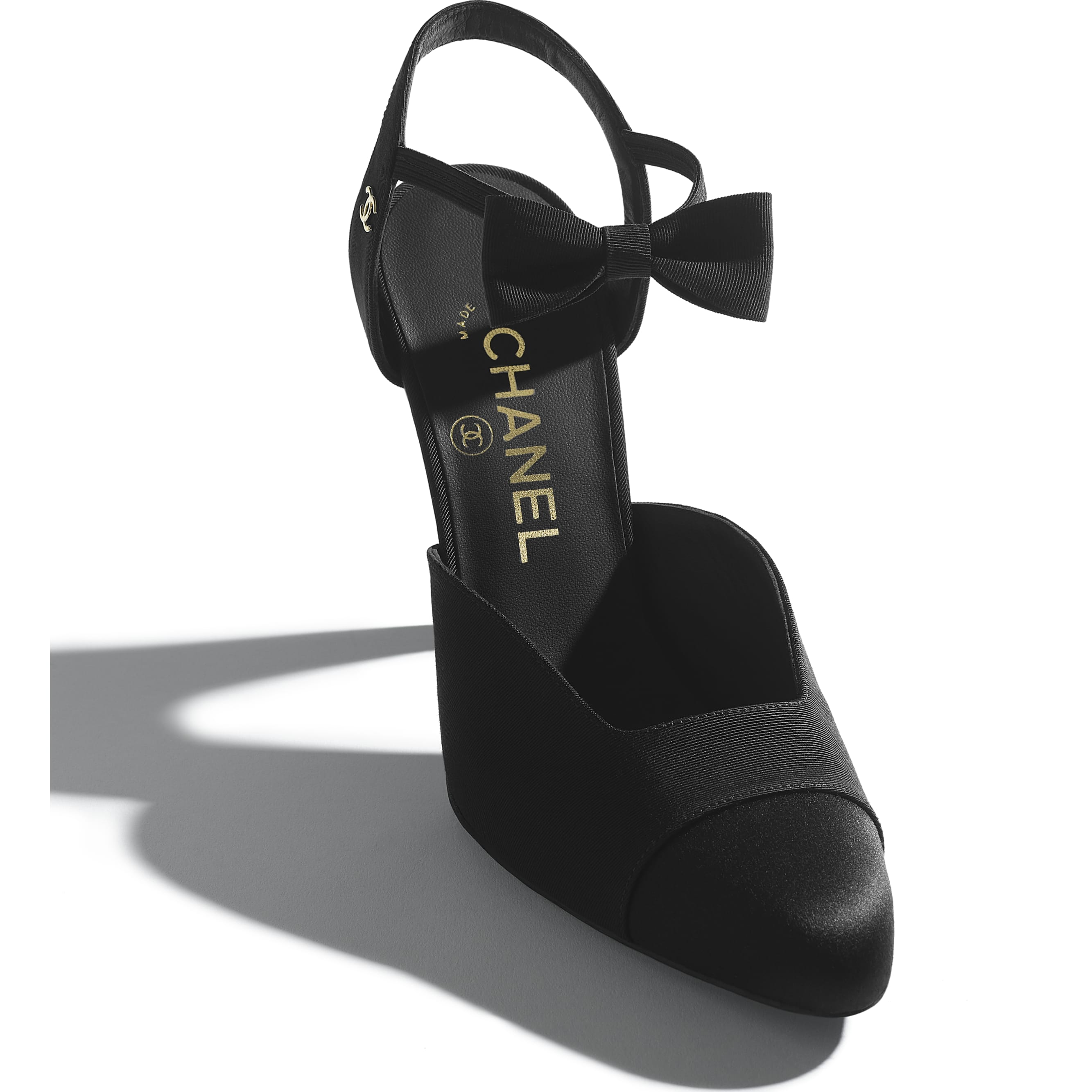 Pumps - Black - Grosgrain & Satin - CHANEL - Extra view - see standard sized version