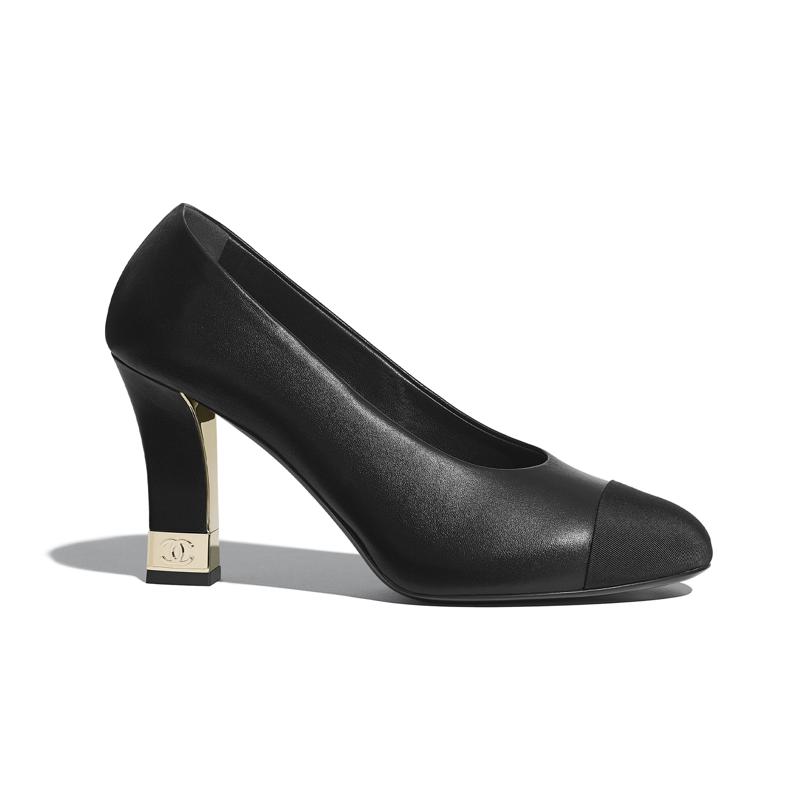Pumps - Black - Lambskin & Grosgrain - CHANEL - Default view - see standard sized version