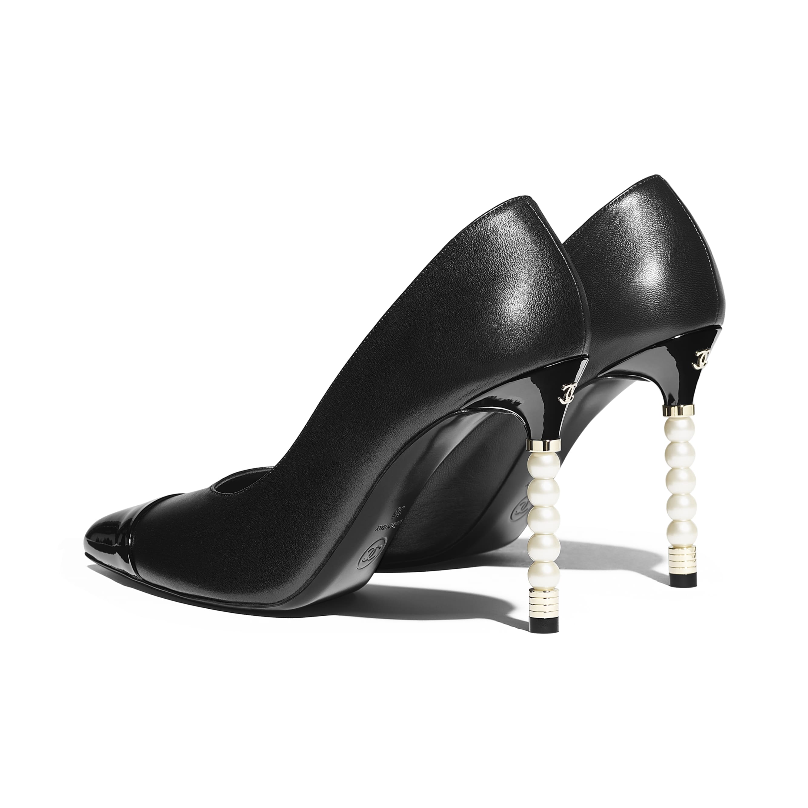 Pumps - Black - Lambskin & Patent Calfskin - Other view - see standard sized version