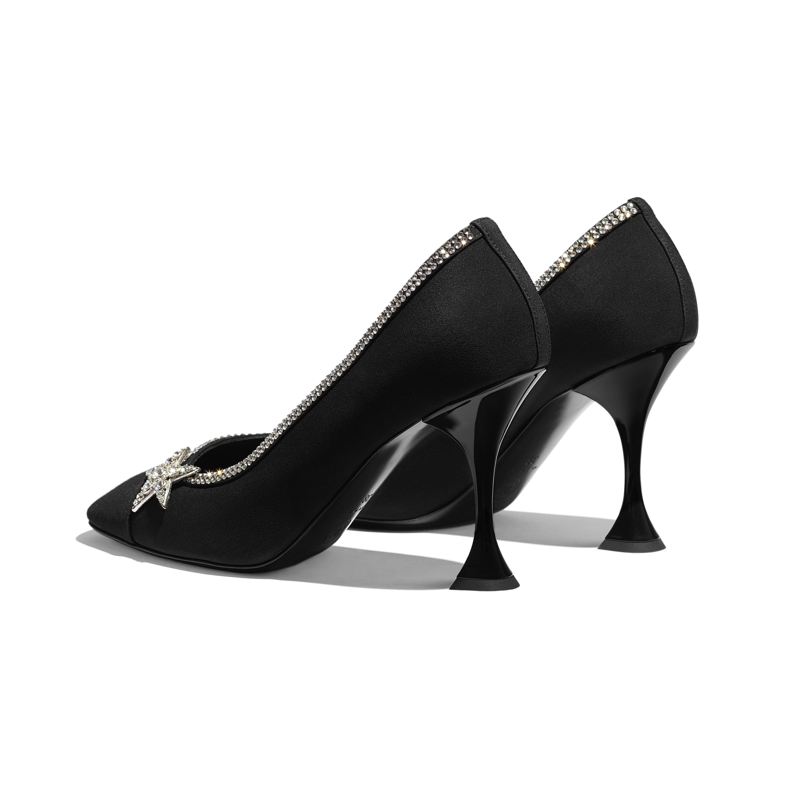 Pumps - Black - Silk Crepe & Grosgrain - Other view - see standard sized version