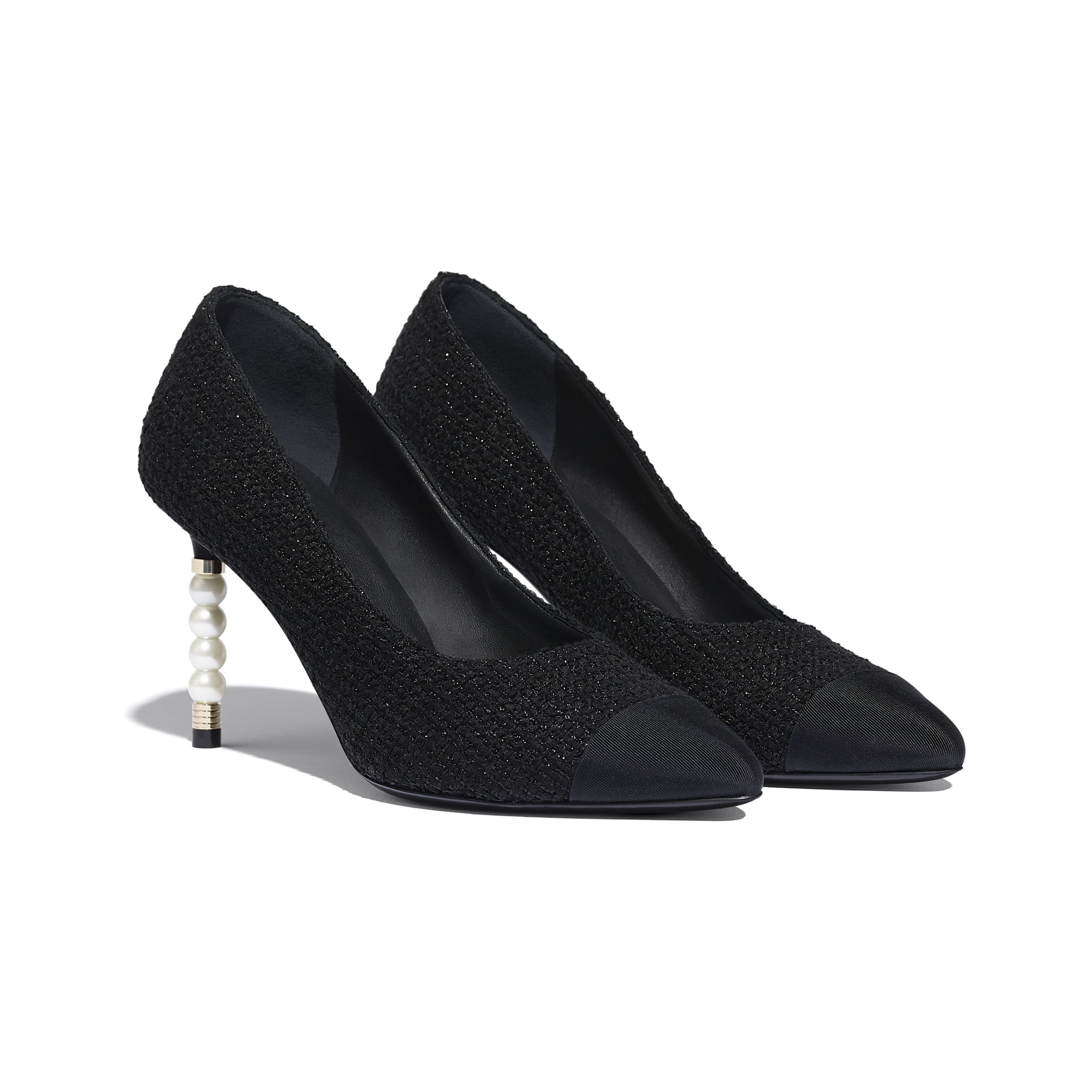 Pumps - Black - Tweed & Grosgrain - Alternative view - see standard sized version