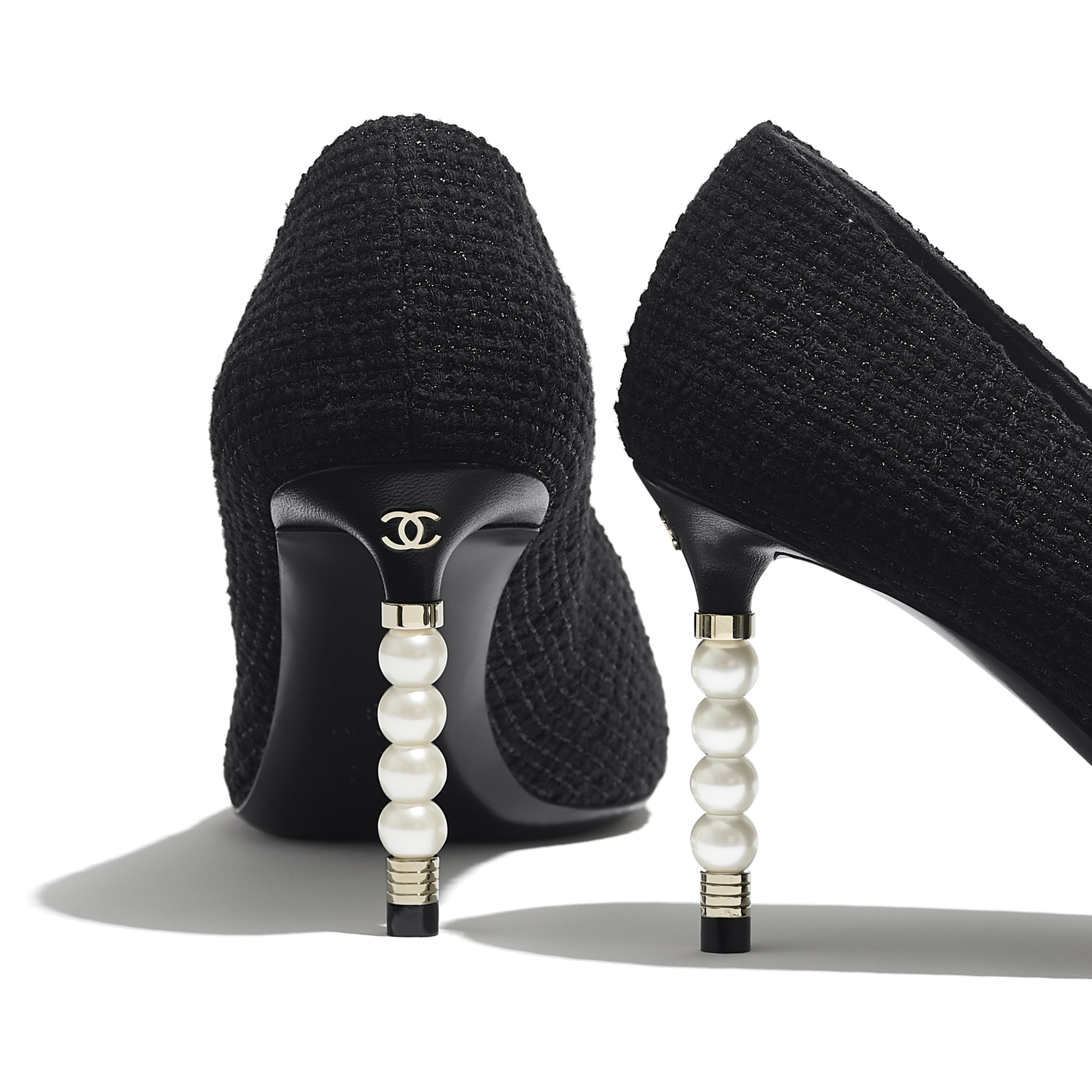 Pumps - Black - Tweed & Grosgrain - Extra view - see standard sized version