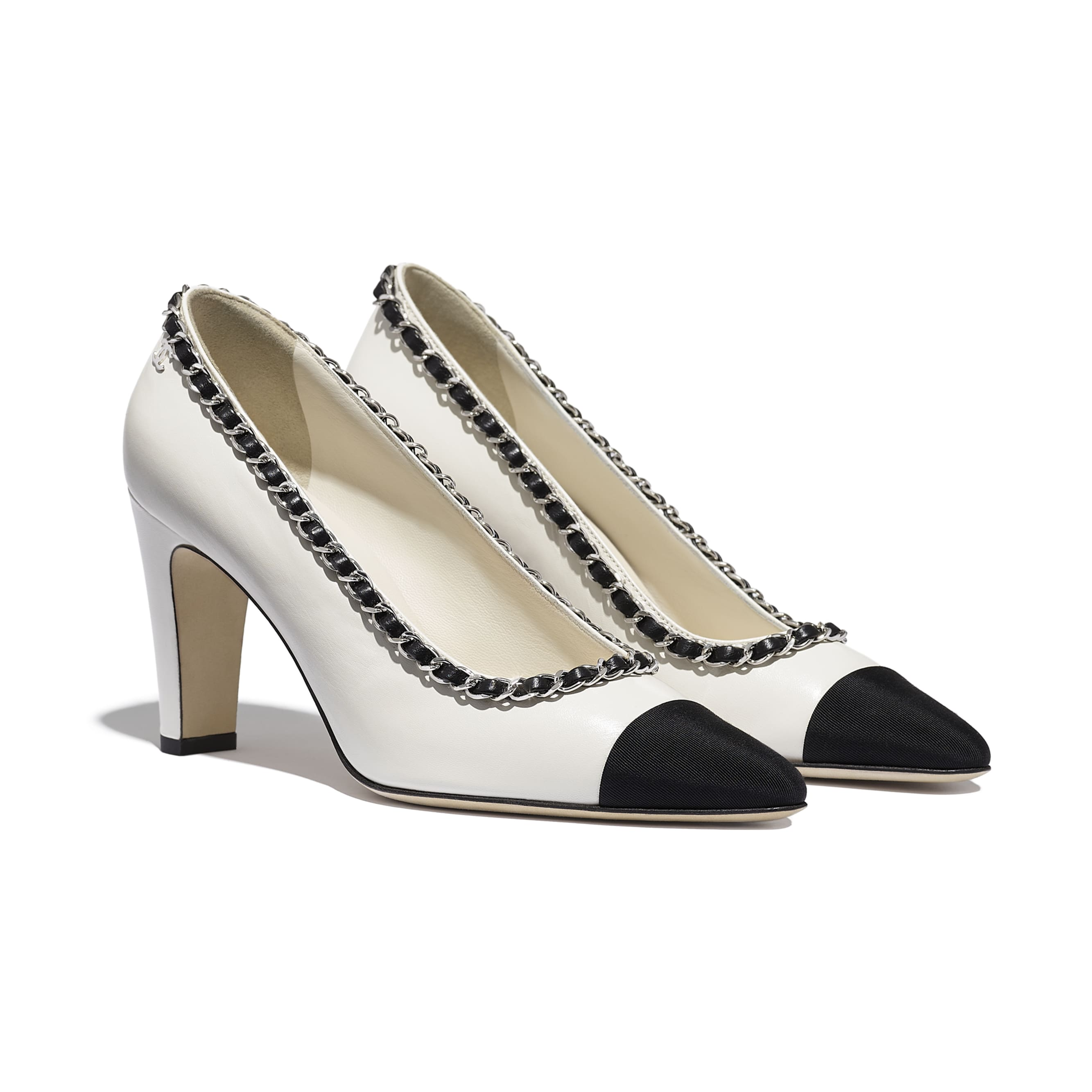 Pumps - Ivory & Black - Lambskin - CHANEL - Alternative view - see standard sized version