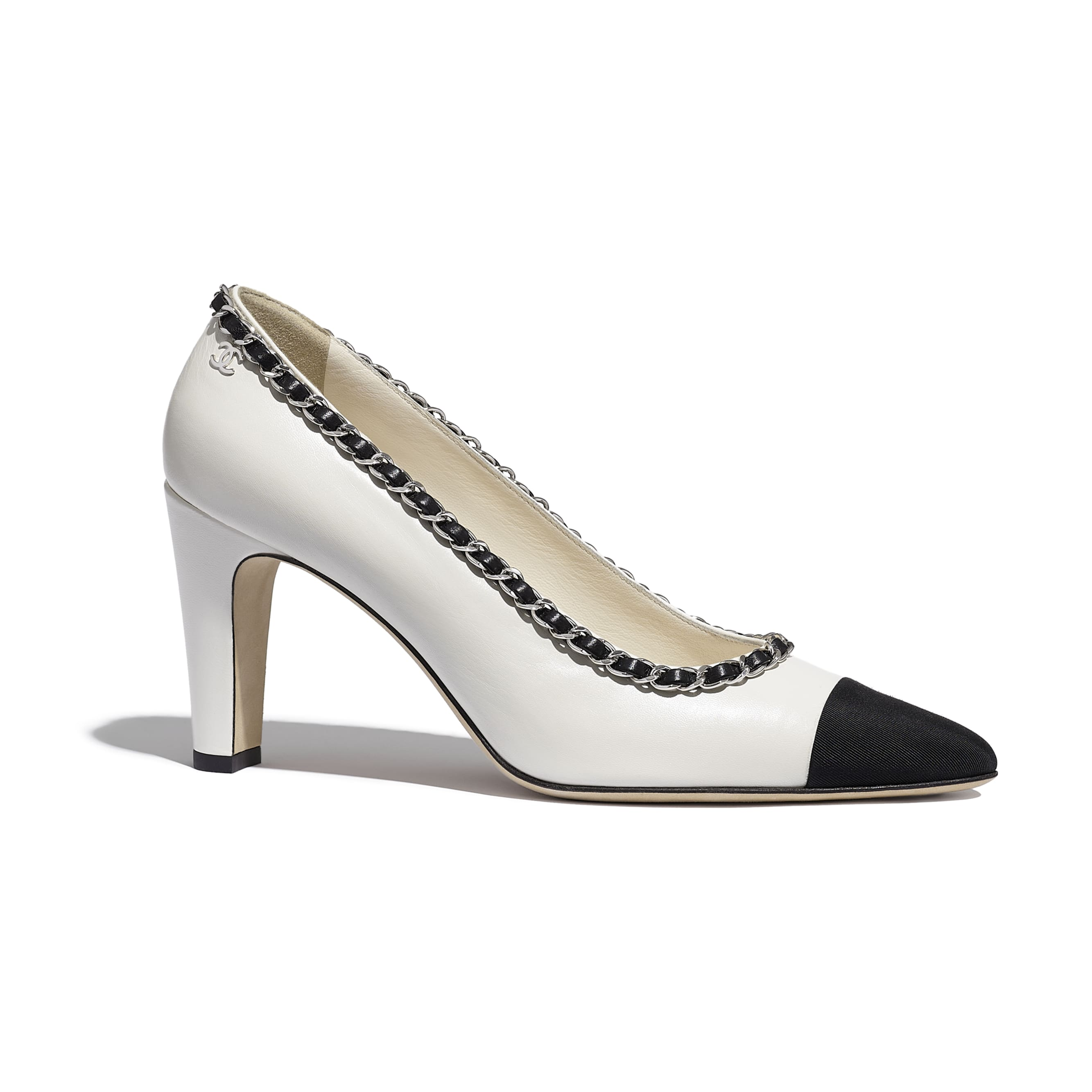Pumps - Ivory & Black - Lambskin - CHANEL - Default view - see standard sized version