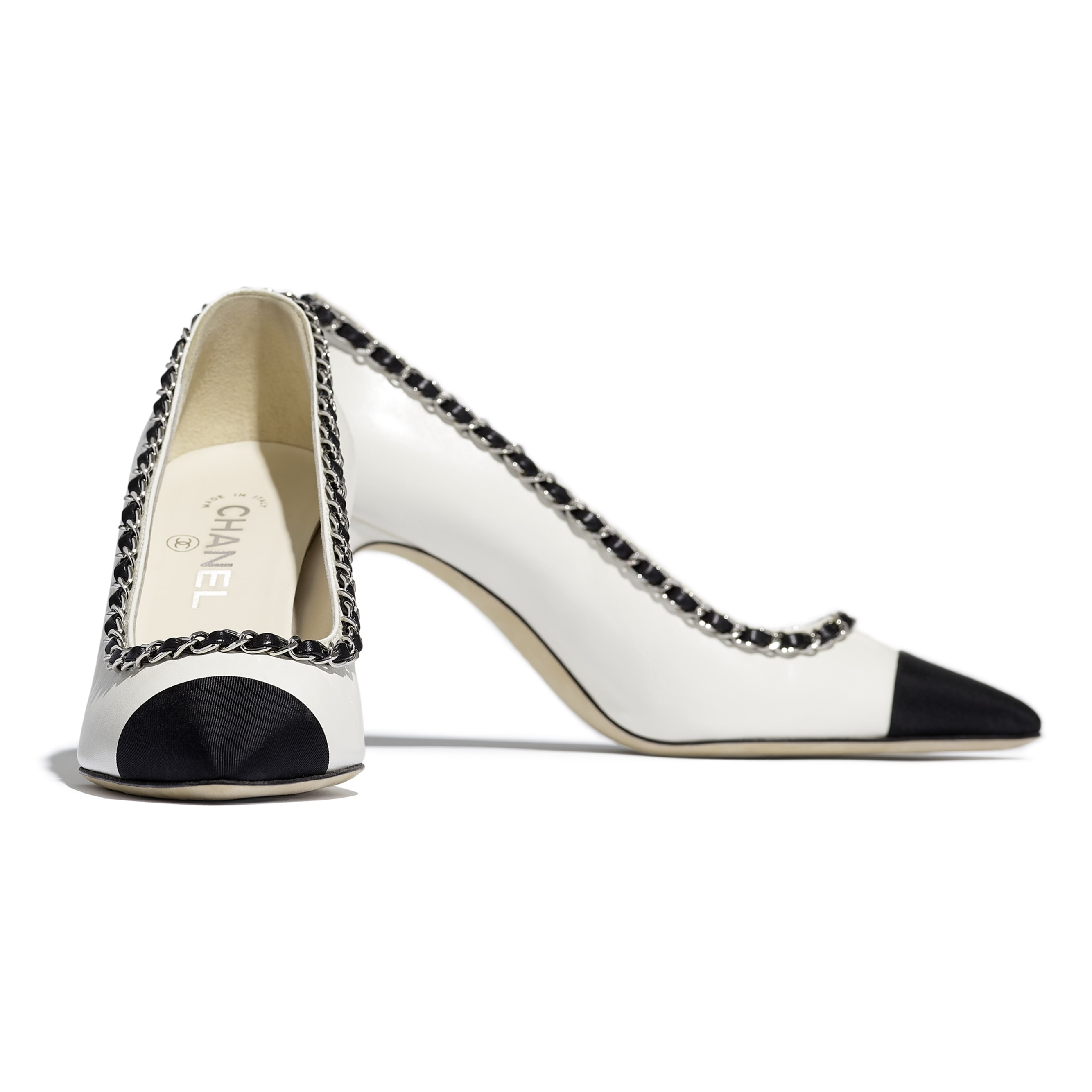 Pumps - Ivory & Black - Lambskin - CHANEL - Extra view - see standard sized version