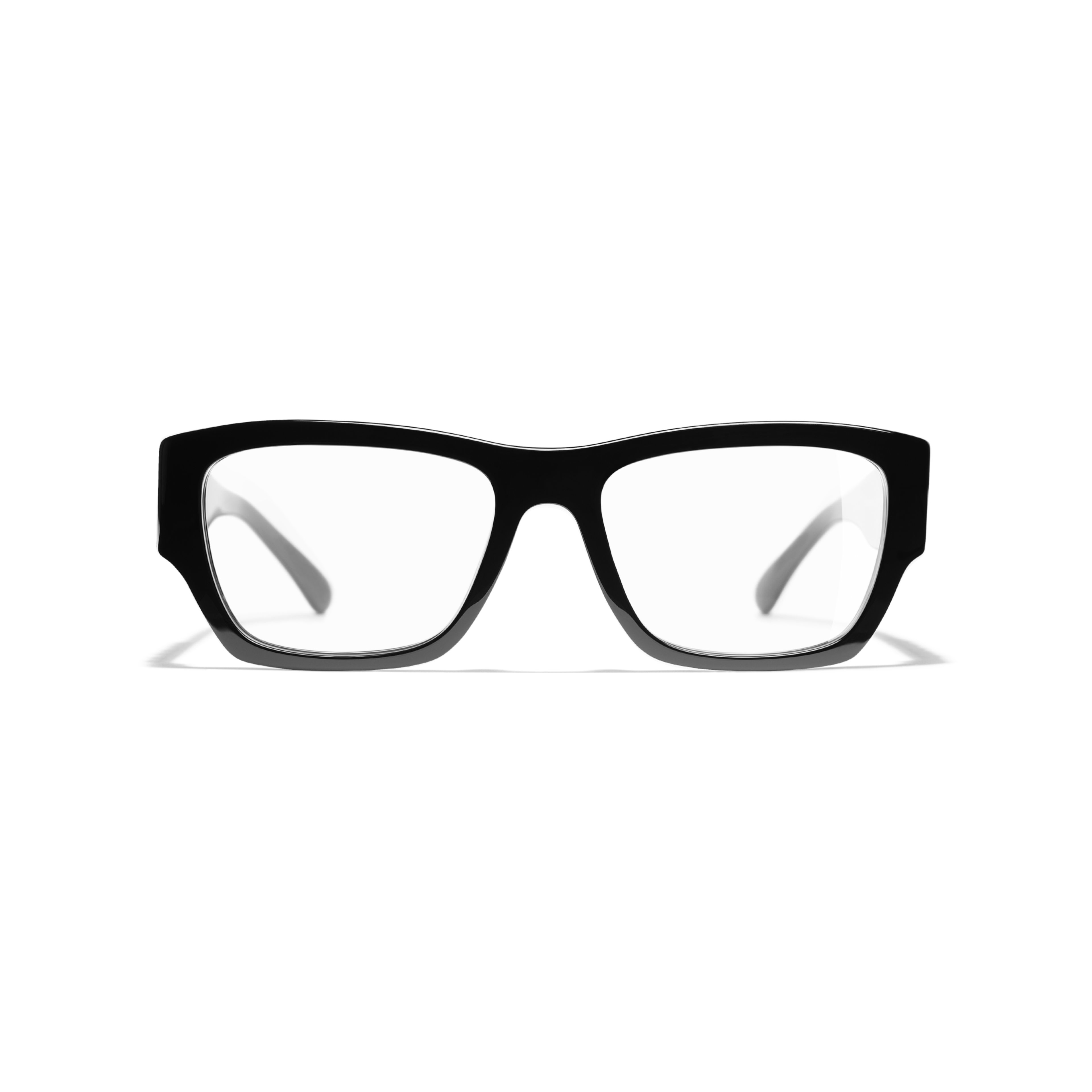 Rectangle Eyeglasses - Black - Acetate - CHANEL - Alternative view - see standard sized version