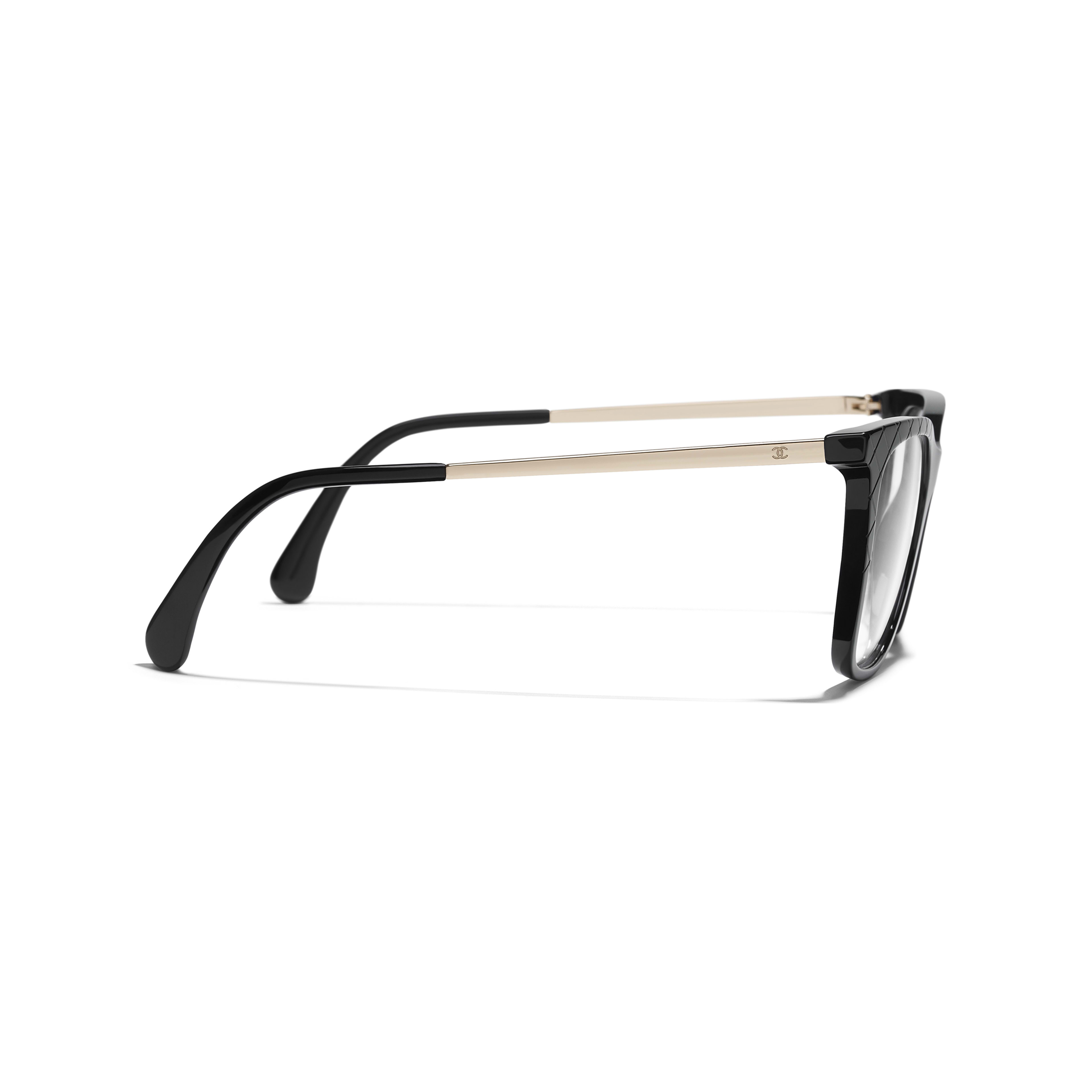 Rectangle Eyeglasses - Black - Acetate & Metal - Other view - see standard sized version