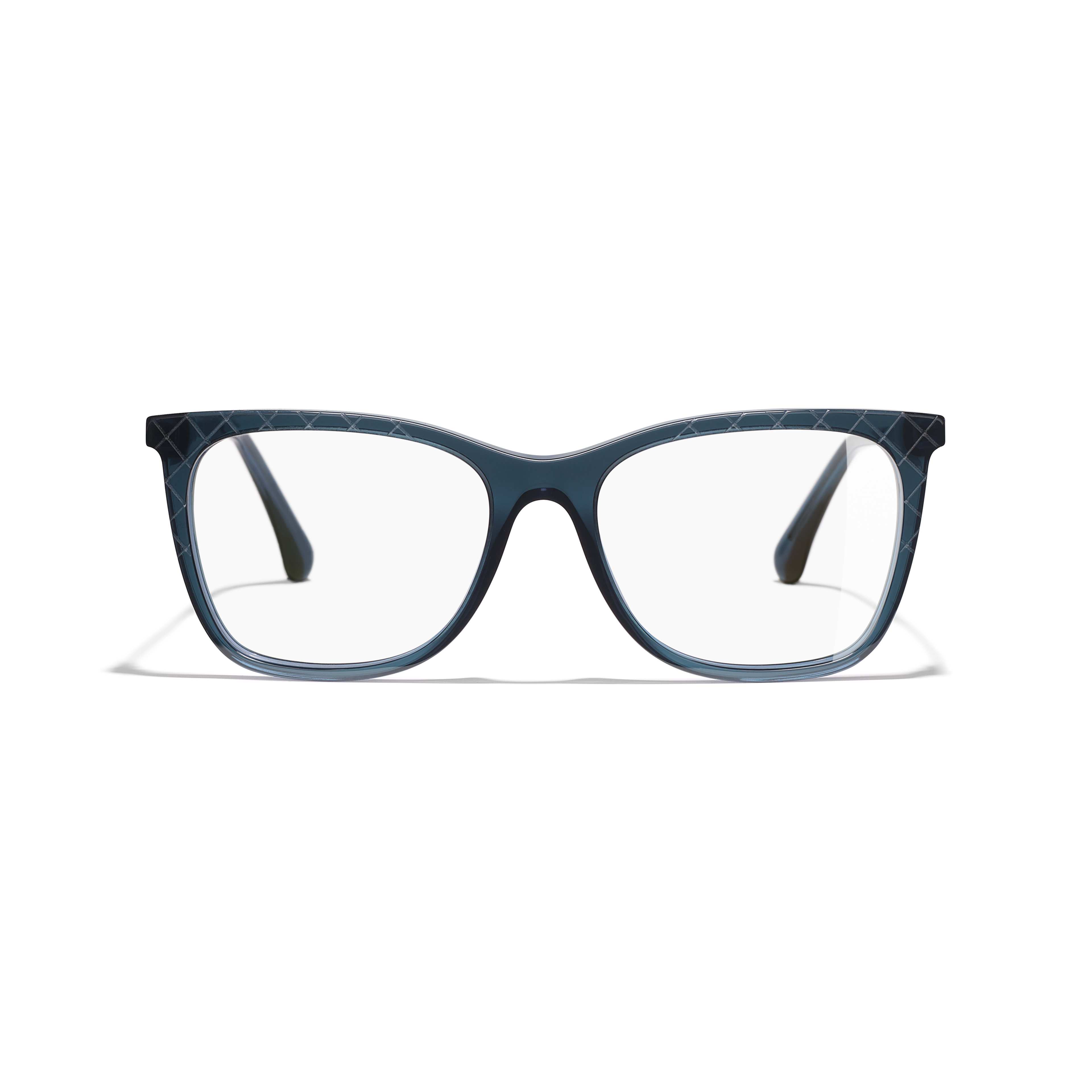 Rectangle Eyeglasses - Blue - Acetate & Metal - Alternative view - see standard sized version