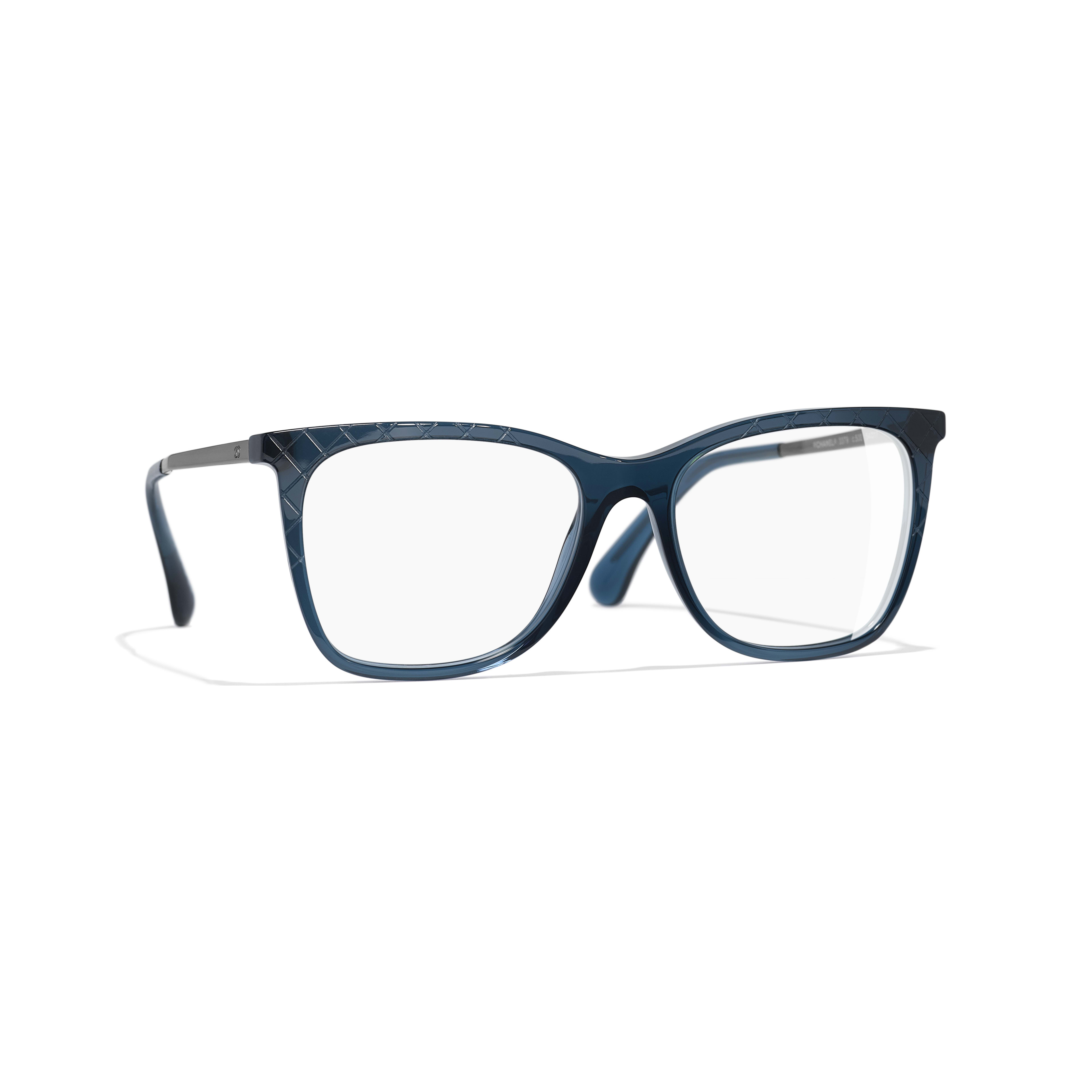 Rectangle Eyeglasses - Blue - Acetate & Metal - Default view - see standard sized version