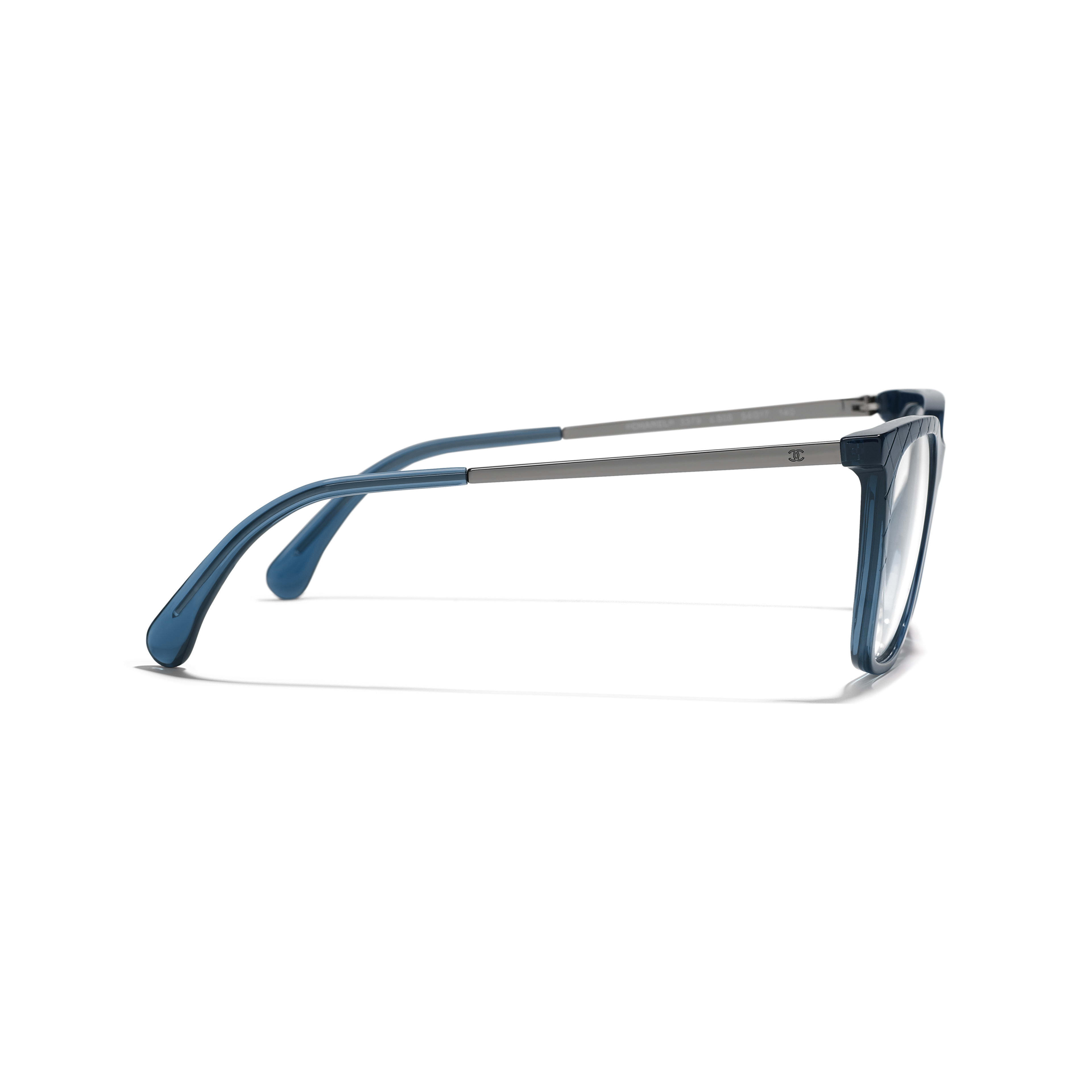 Rectangle Eyeglasses - Blue - Acetate & Metal - Other view - see standard sized version