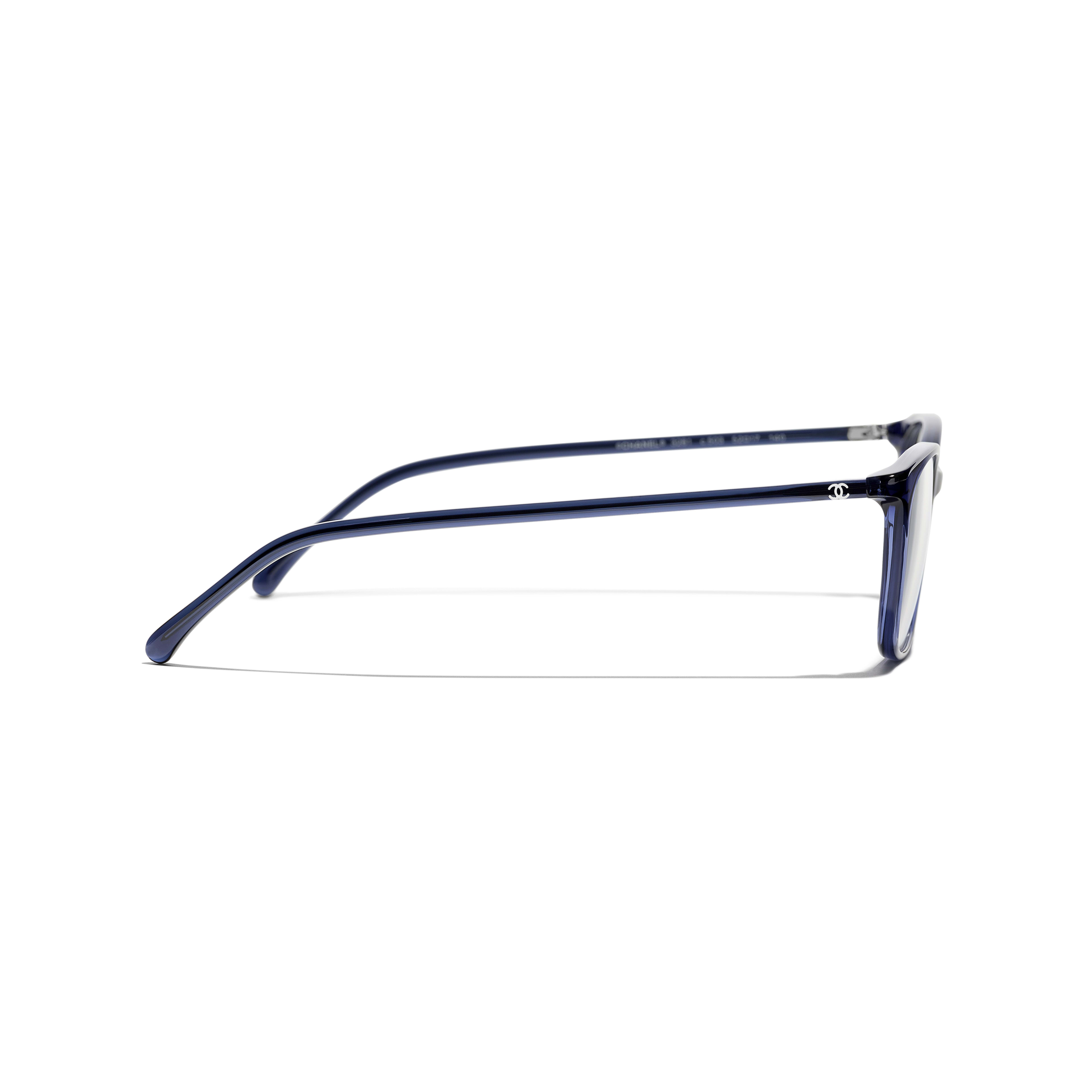 Rectangle Eyeglasses - Dark Blue - Acetate - Other view - see standard sized version