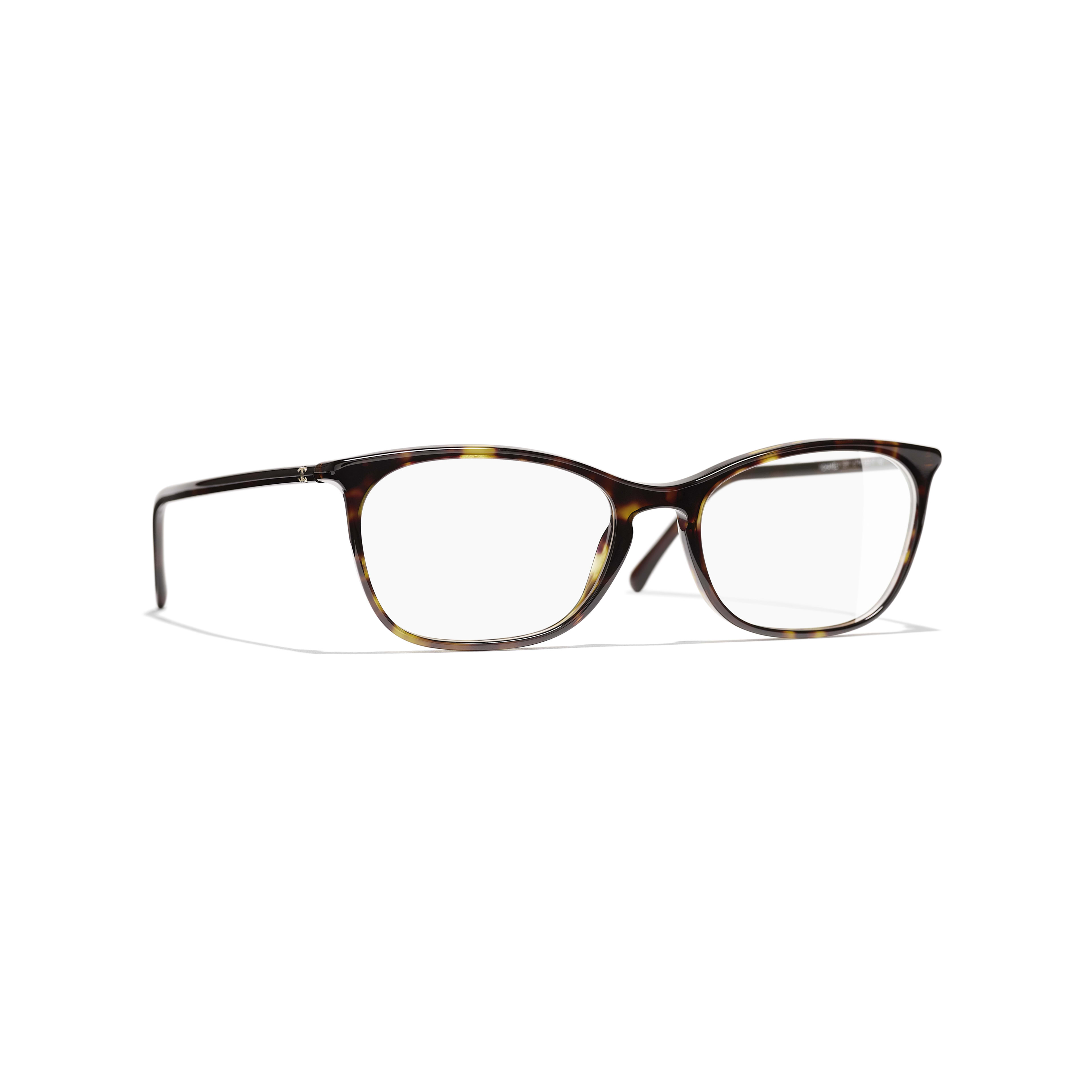 Rectangle Eyeglasses - Dark Tortoise - Acetate - CHANEL - Default view - see standard sized version