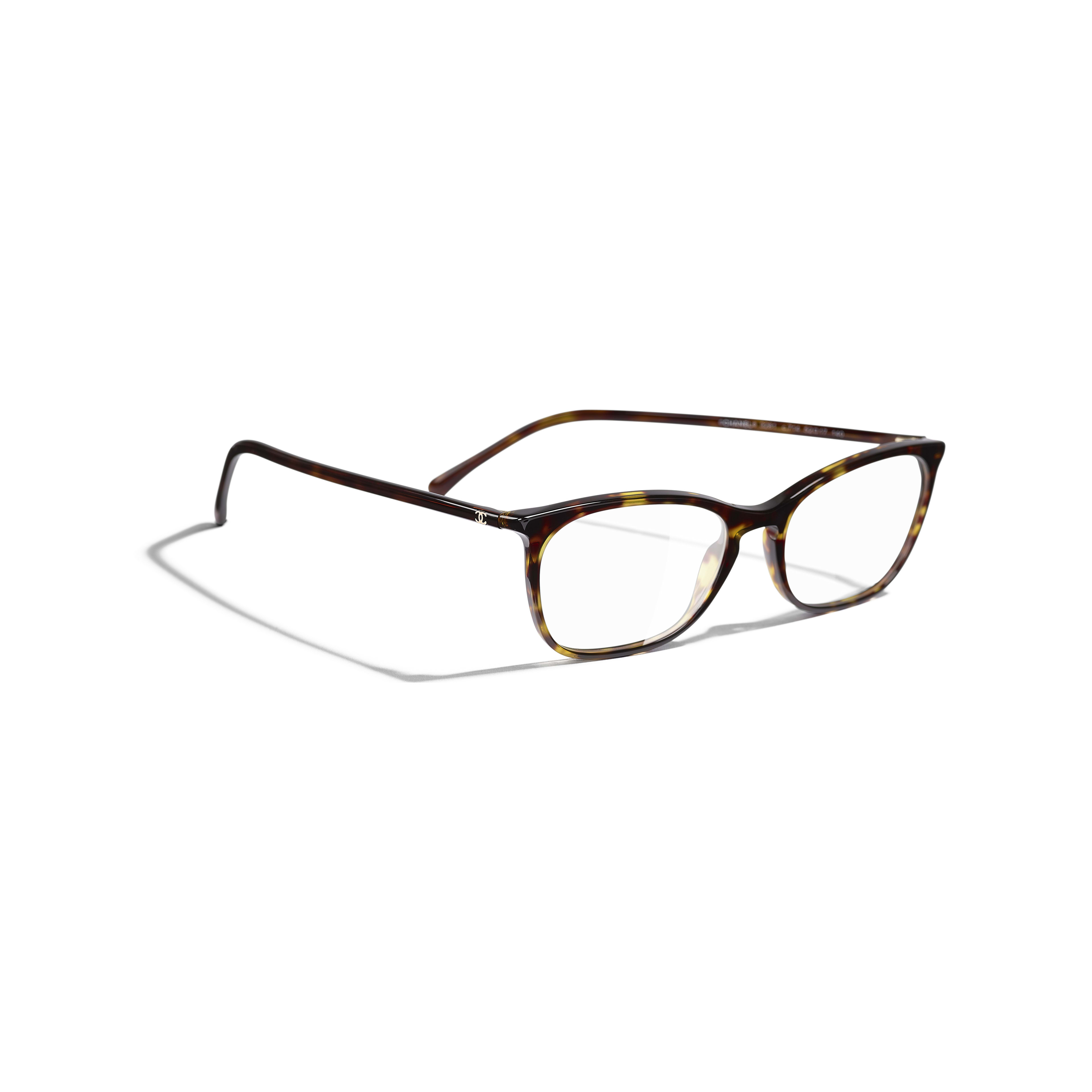 Rectangle Eyeglasses - Dark Tortoise - Acetate - Extra view - see standard sized version