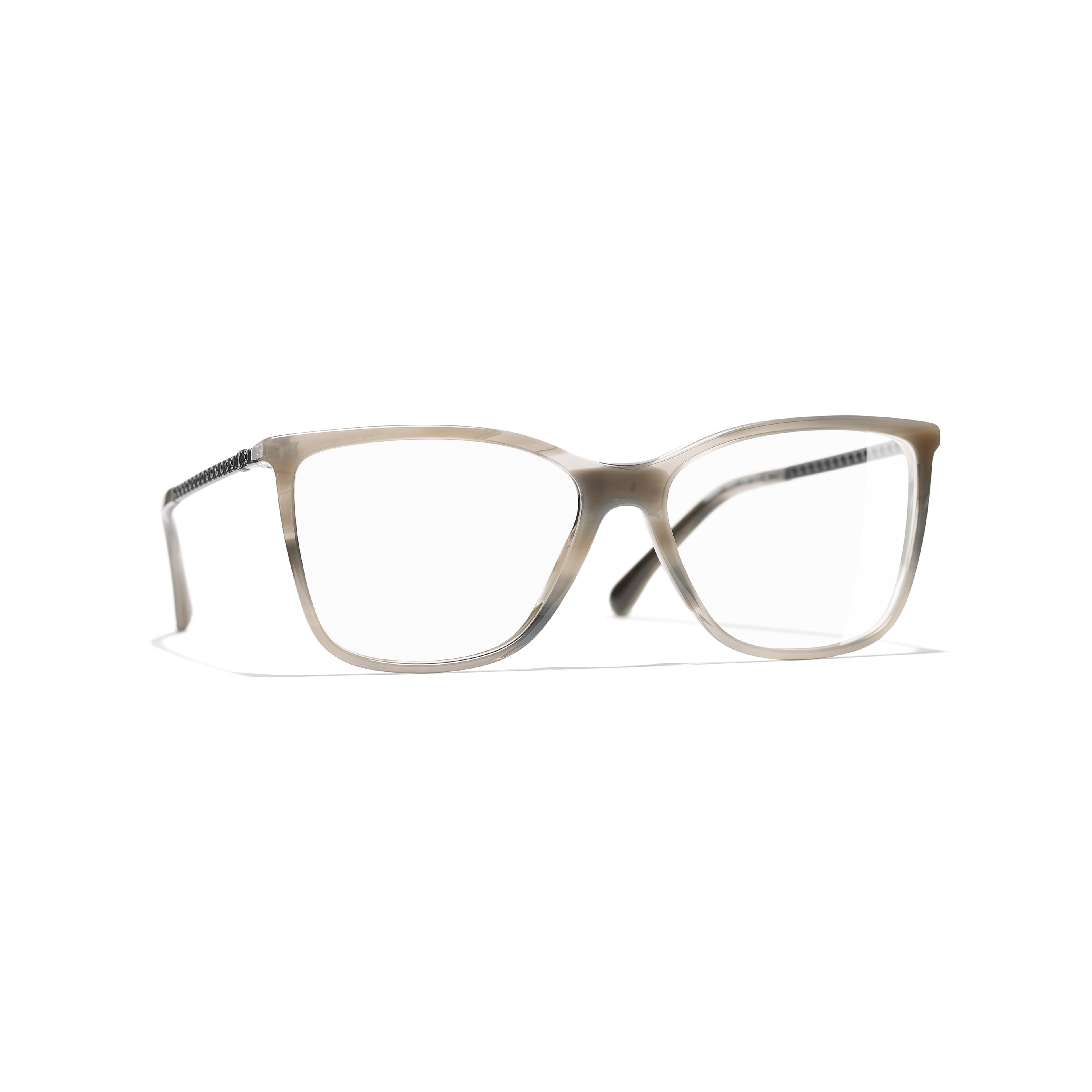 Rectangle Eyeglasses - Grey - Acetate & Strass - Default view - see standard sized version