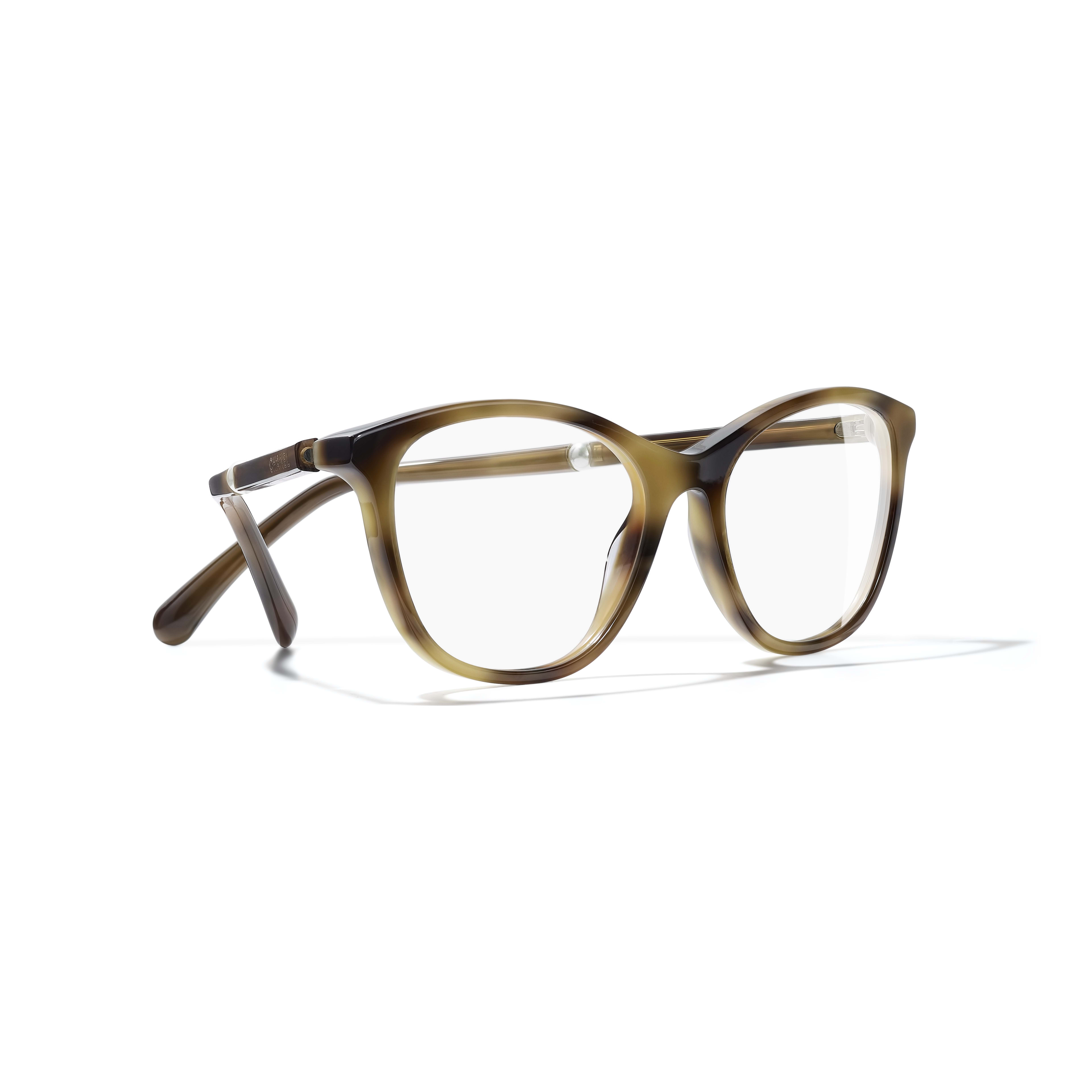 Rectangle Eyeglasses - Tortoise - Acetate & Imitation Pearls - Extra view - see standard sized version