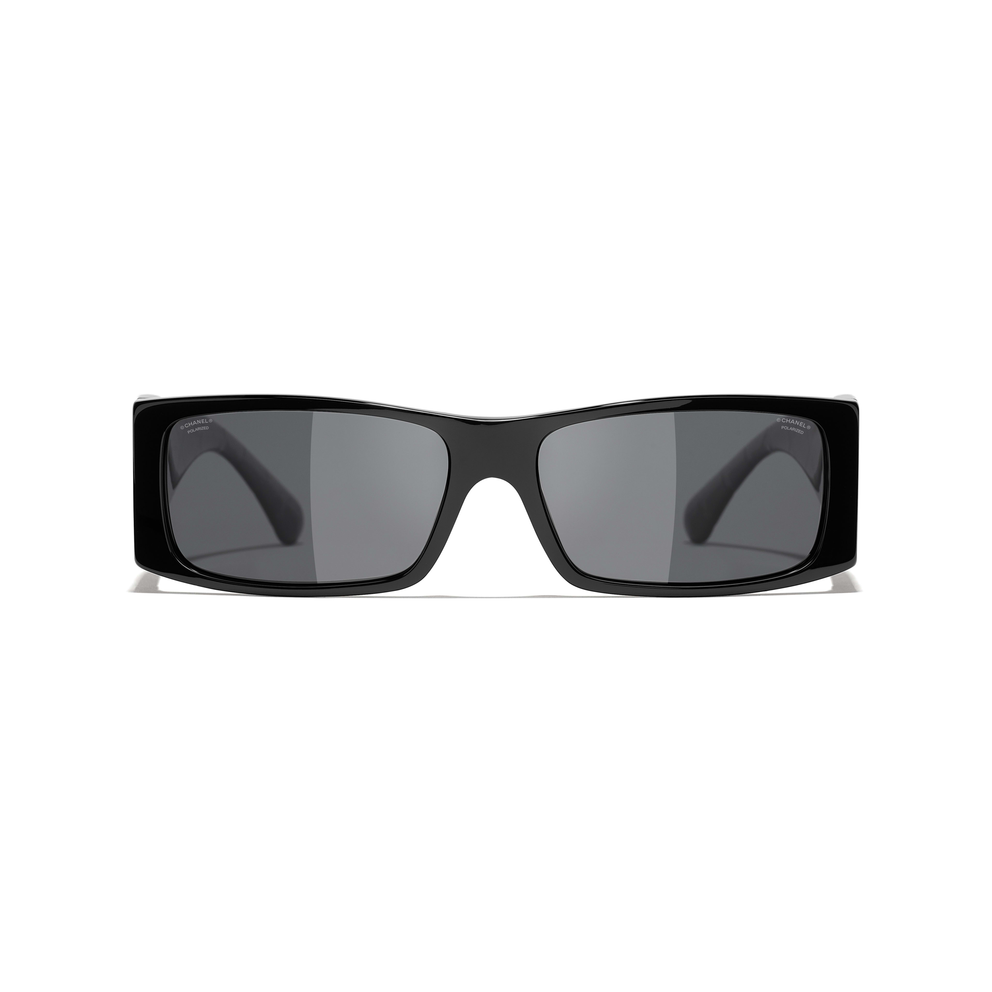 Rectangle Sunglasses - Black - Acetate - CHANEL - Alternative view - see standard sized version