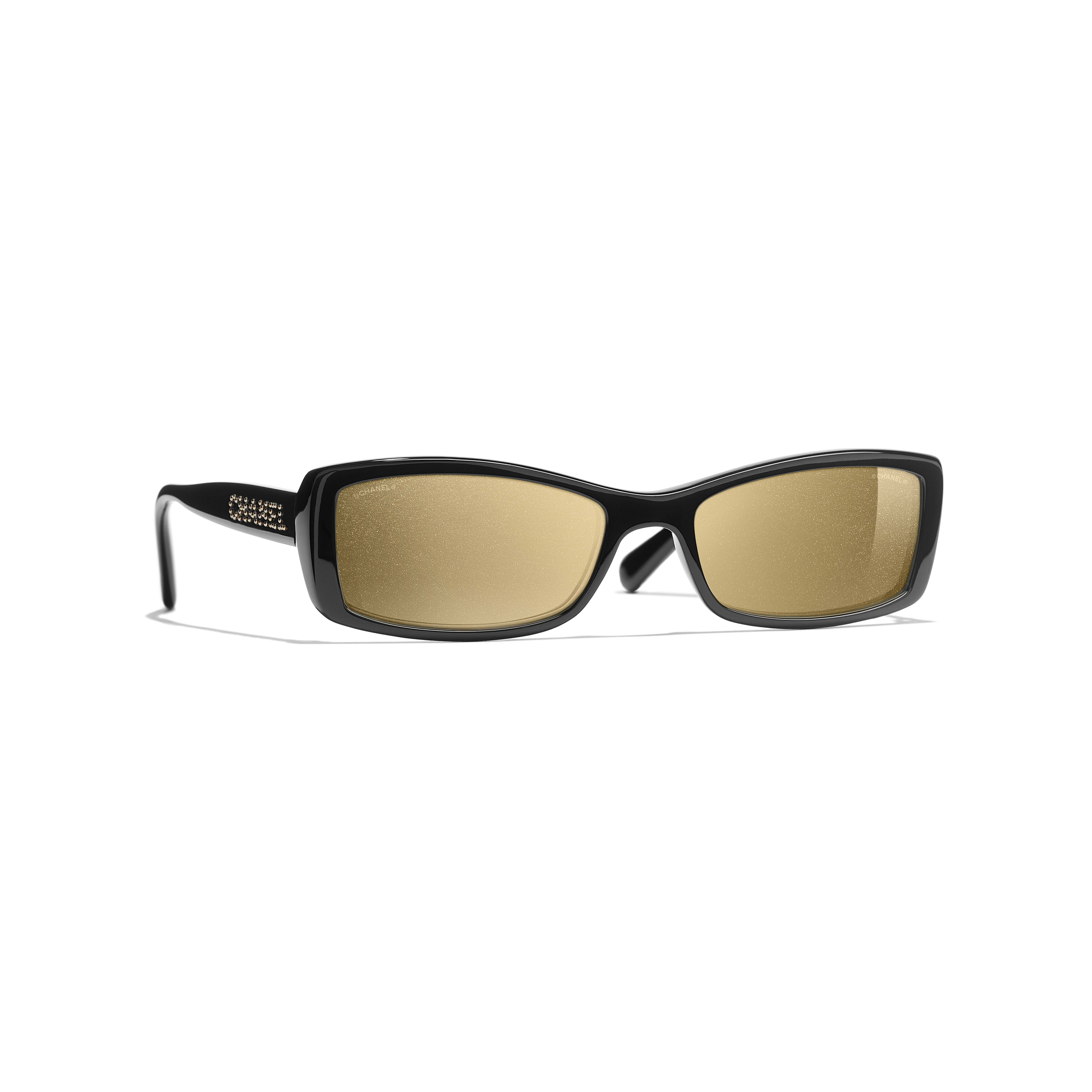 Rectangle Sunglasses - Black - Acetate - Default view - see standard sized version
