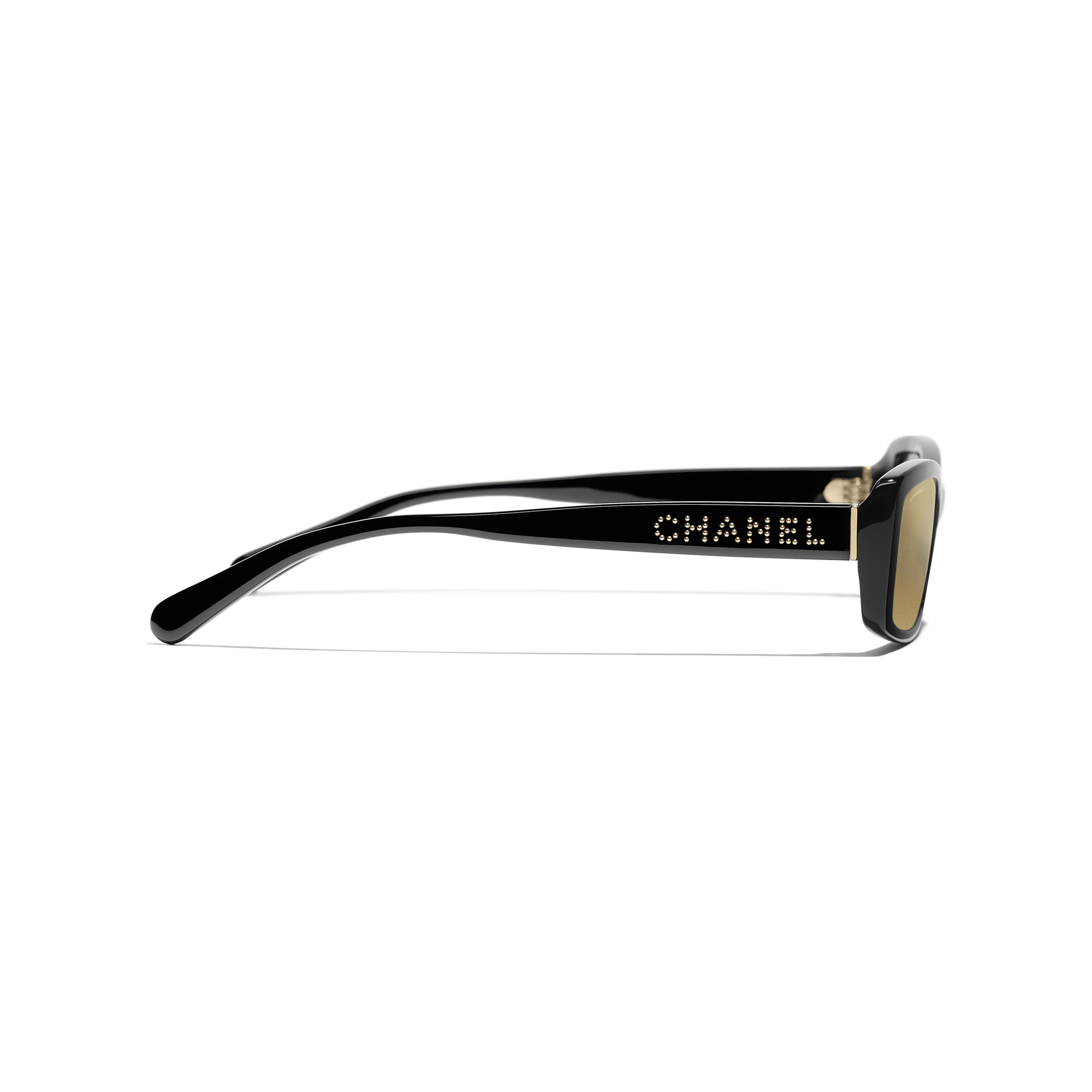 Rectangle Sunglasses - Black - Acetate - Other view - see standard sized version