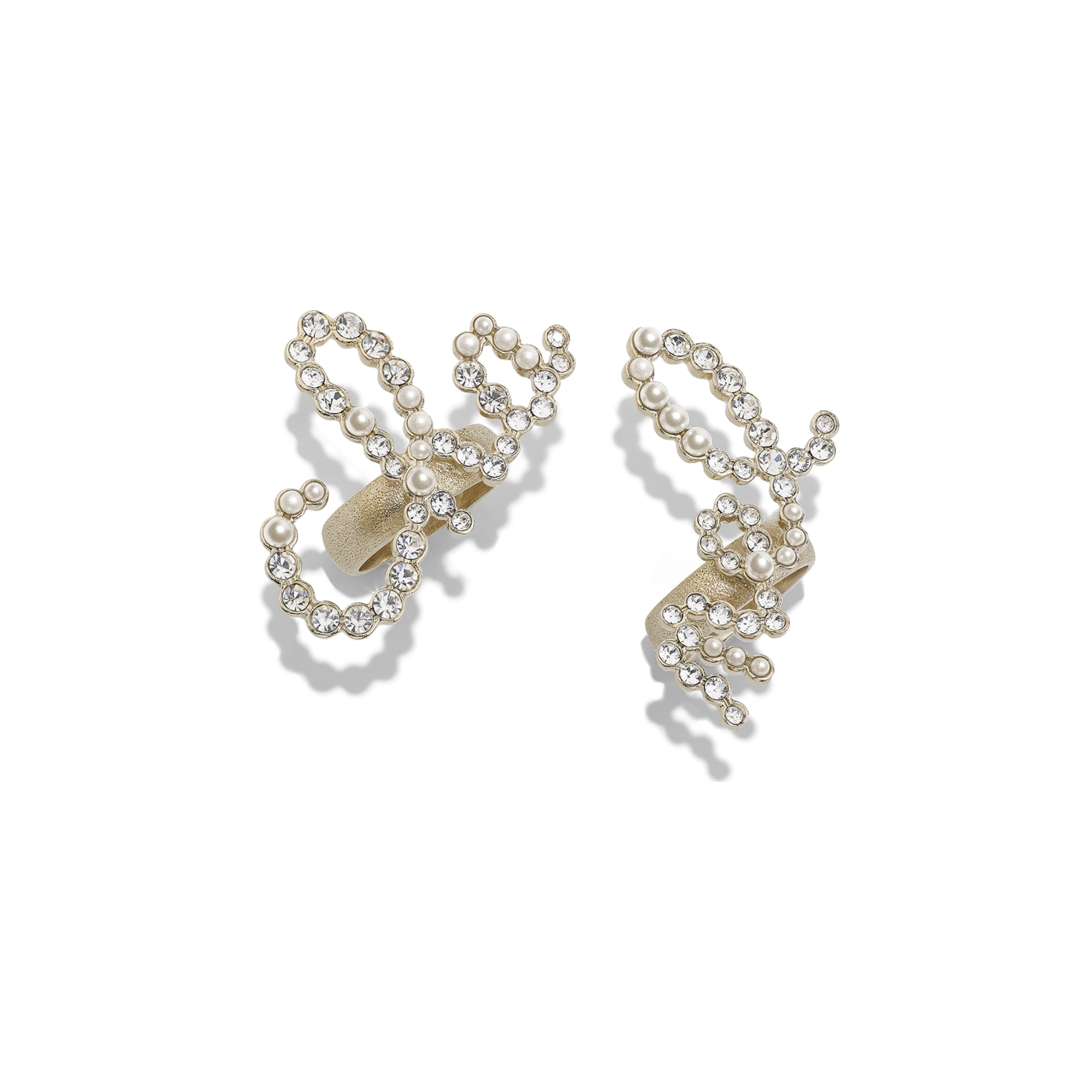 Ring - Gold & Crystal - Metal, Glass Pearls & Diamantés - Default view - see standard sized version
