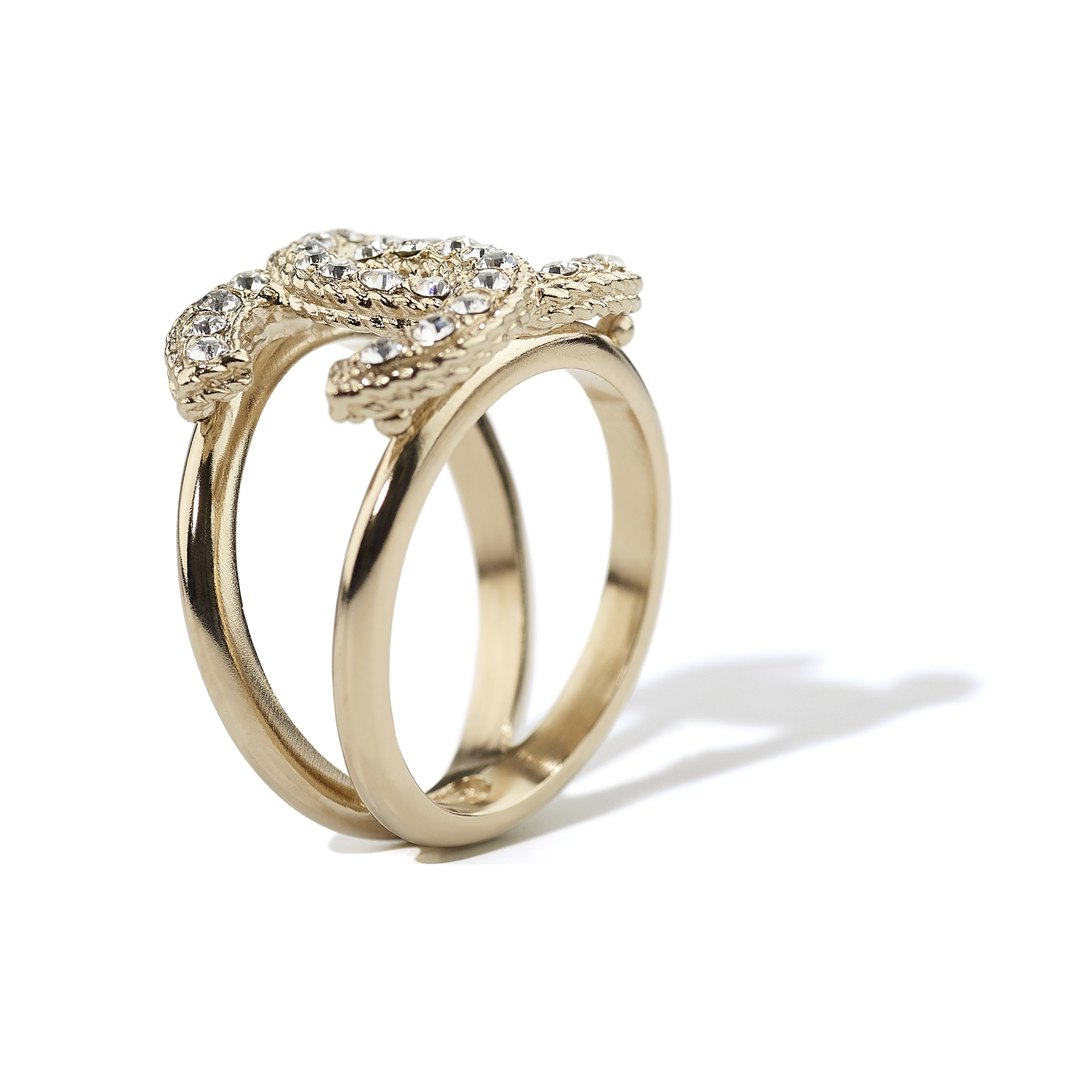 Ring - Gold & Crystal - Metal & Diamantés - CHANEL - Alternative view - see standard sized version