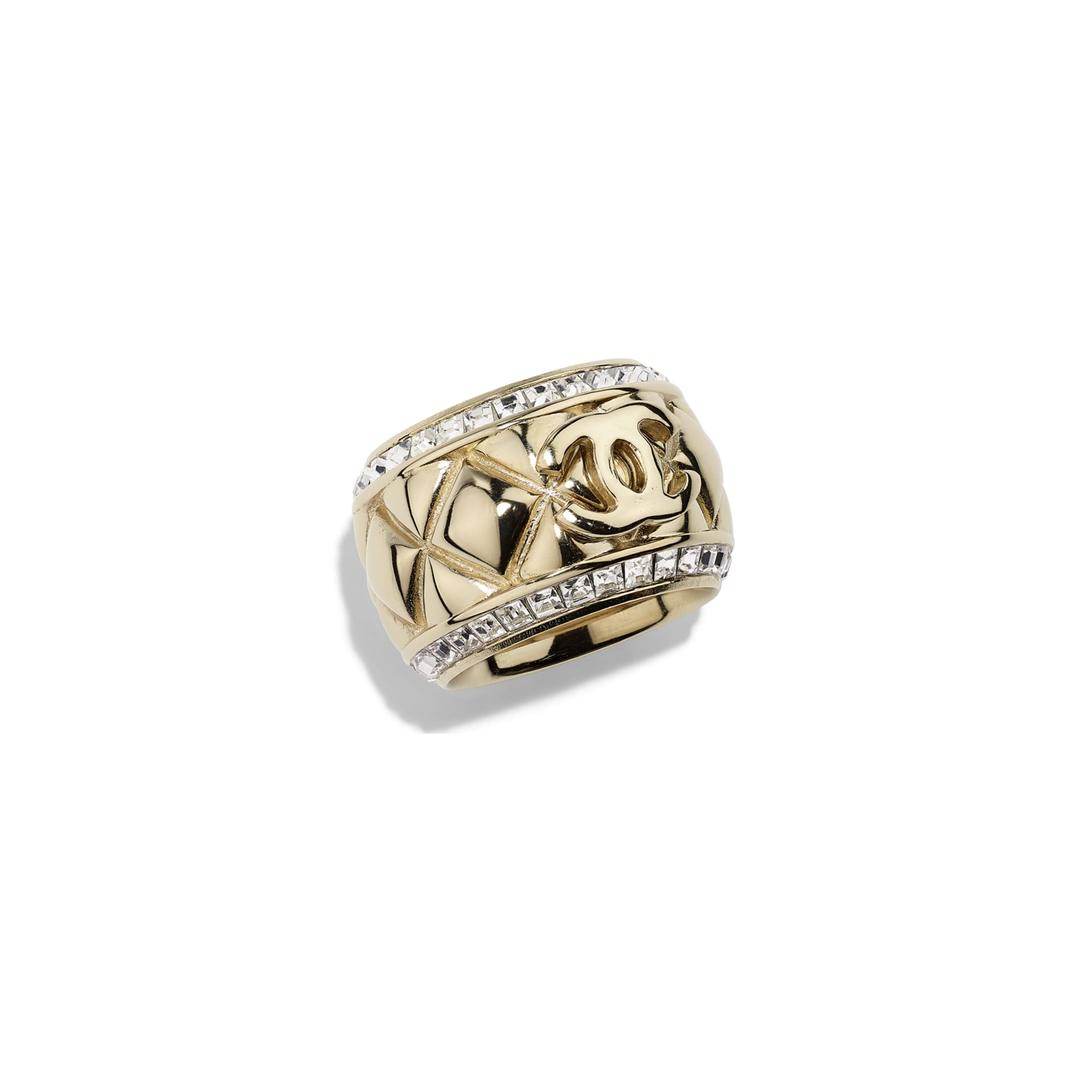Ring - Gold & Crystal - Metal & Diamantés - Default view - see standard sized version