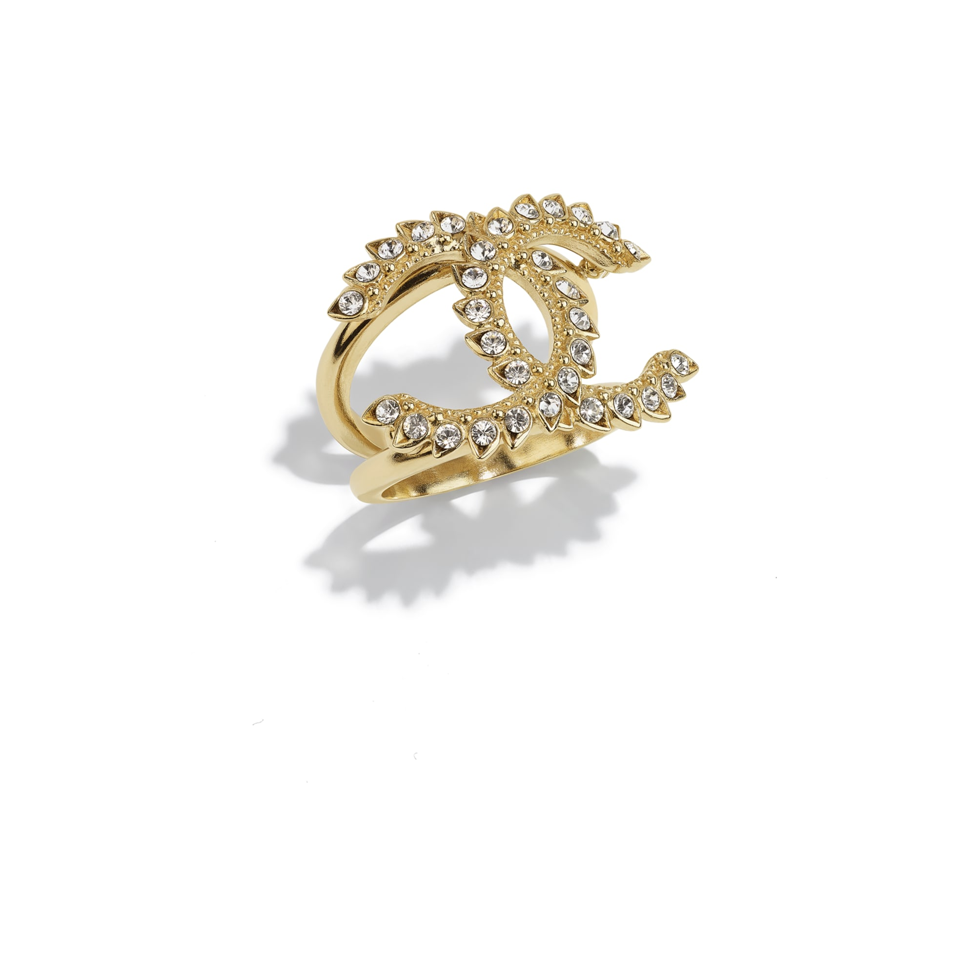 Ring - Gold & Crystal - Metal & Diamantés - CHANEL - Default view - see standard sized version