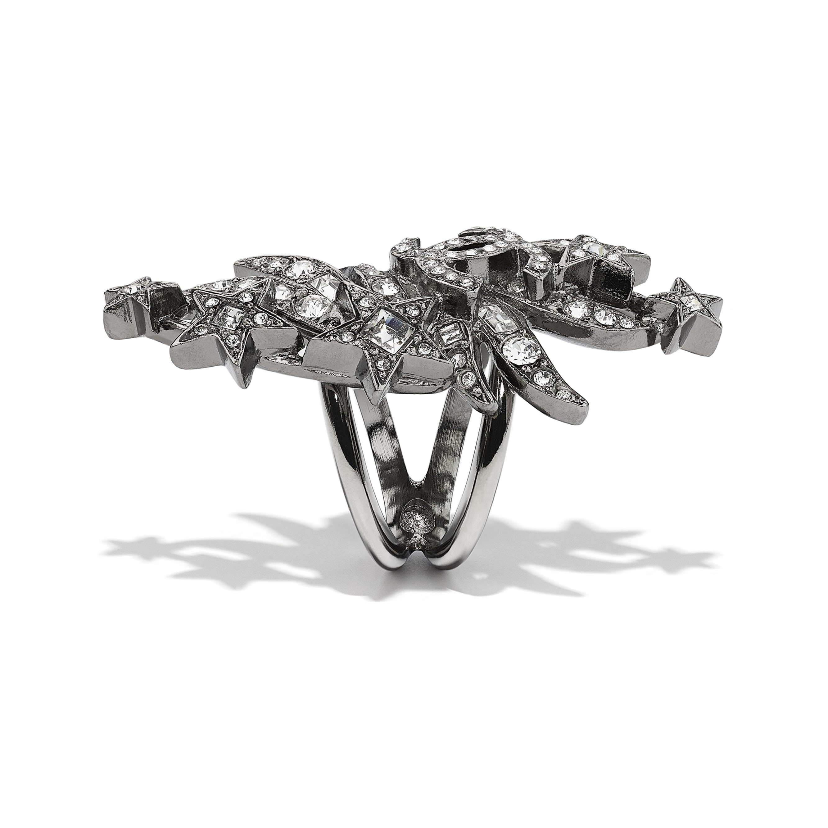 Ring - Ruthenium & Crystal - Metal & Diamantés - CHANEL - Alternative view - see standard sized version