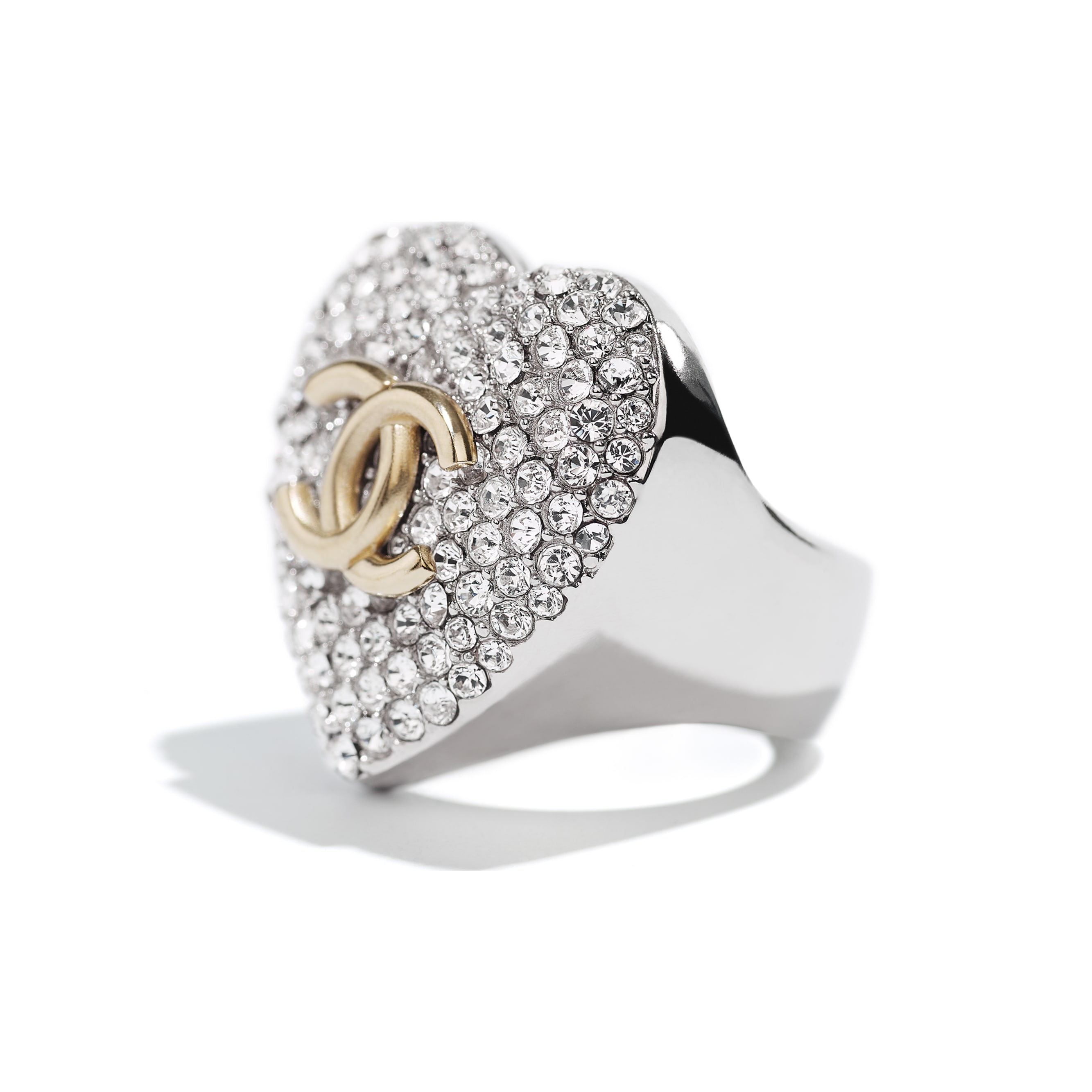 Ring - Silver, Gold & Crystal - Metal & Strass - CHANEL - Alternative view - see standard sized version