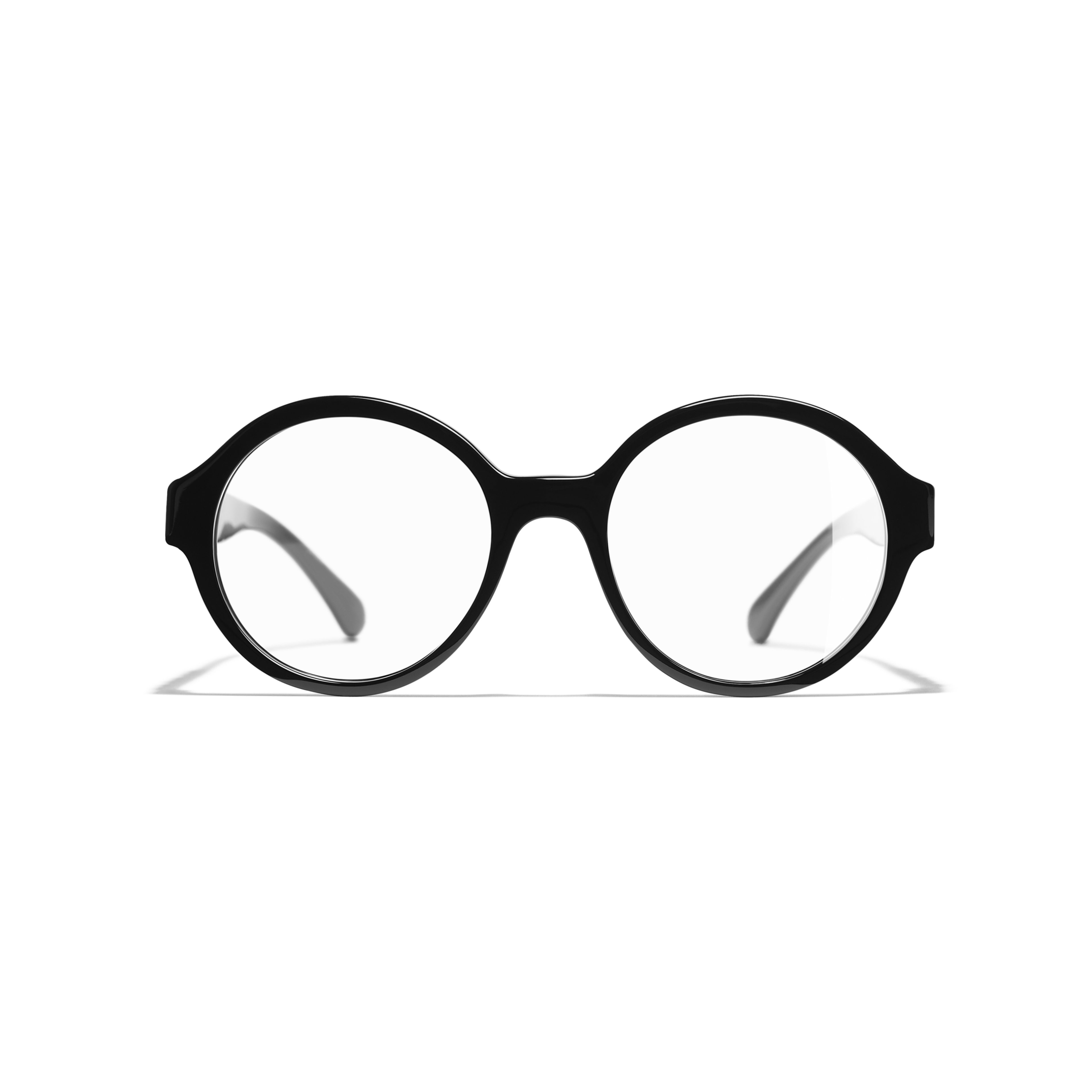 Round Eyeglasses - Black - Acetate - CHANEL - Alternative view - see standard sized version