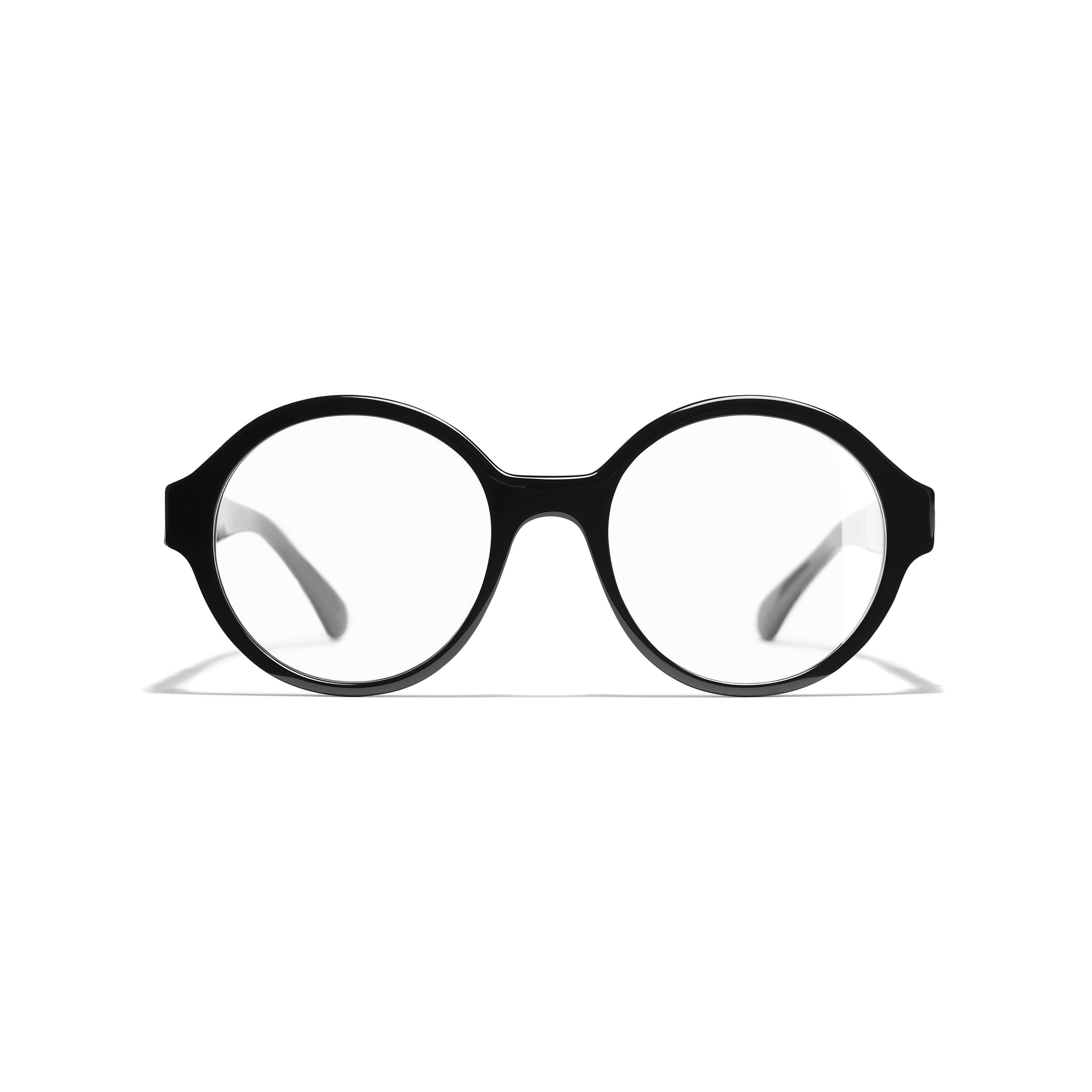 Round Eyeglasses - Black - Acetate - Alternative view - see standard sized version