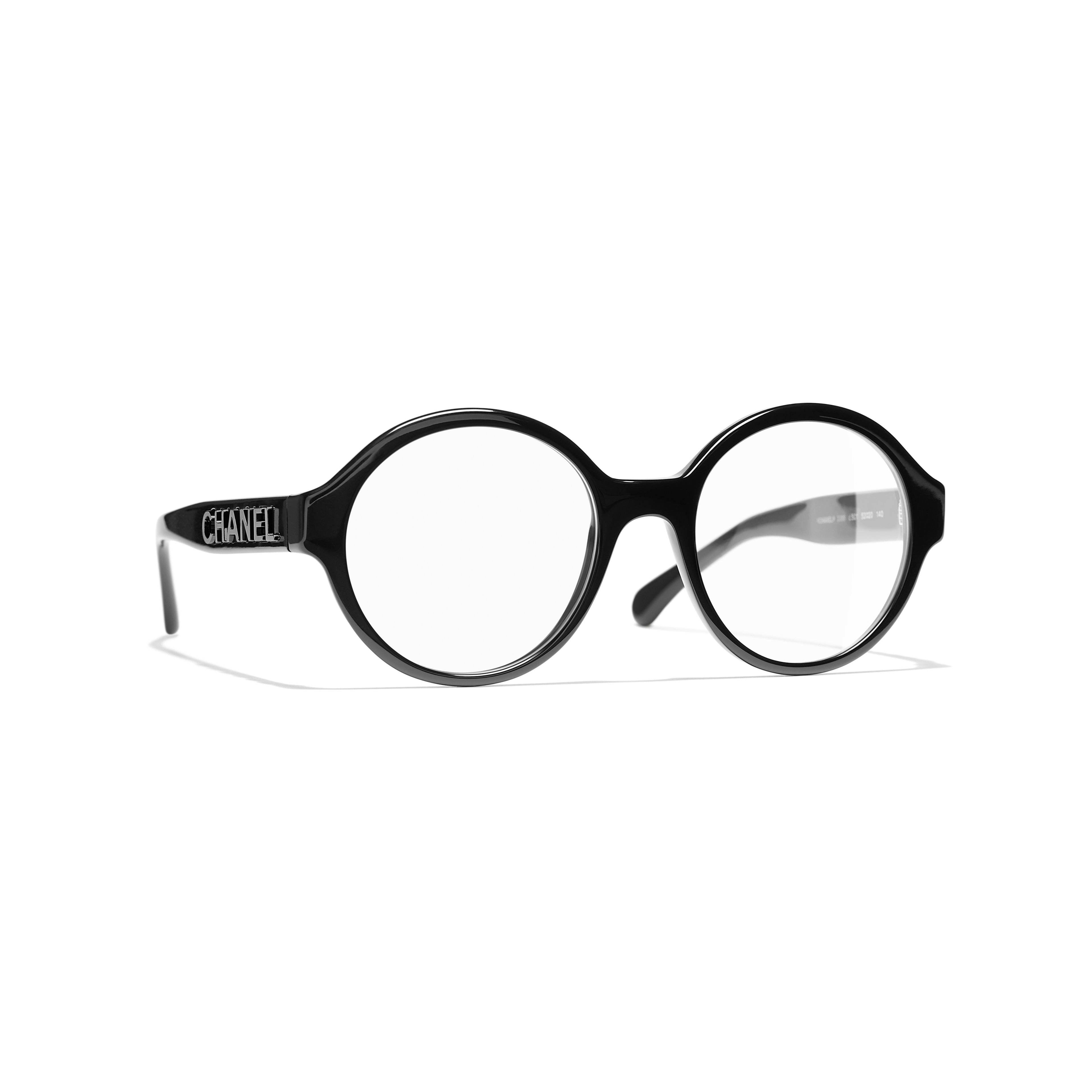 Round Eyeglasses - Black - Acetate - Default view - see standard sized version