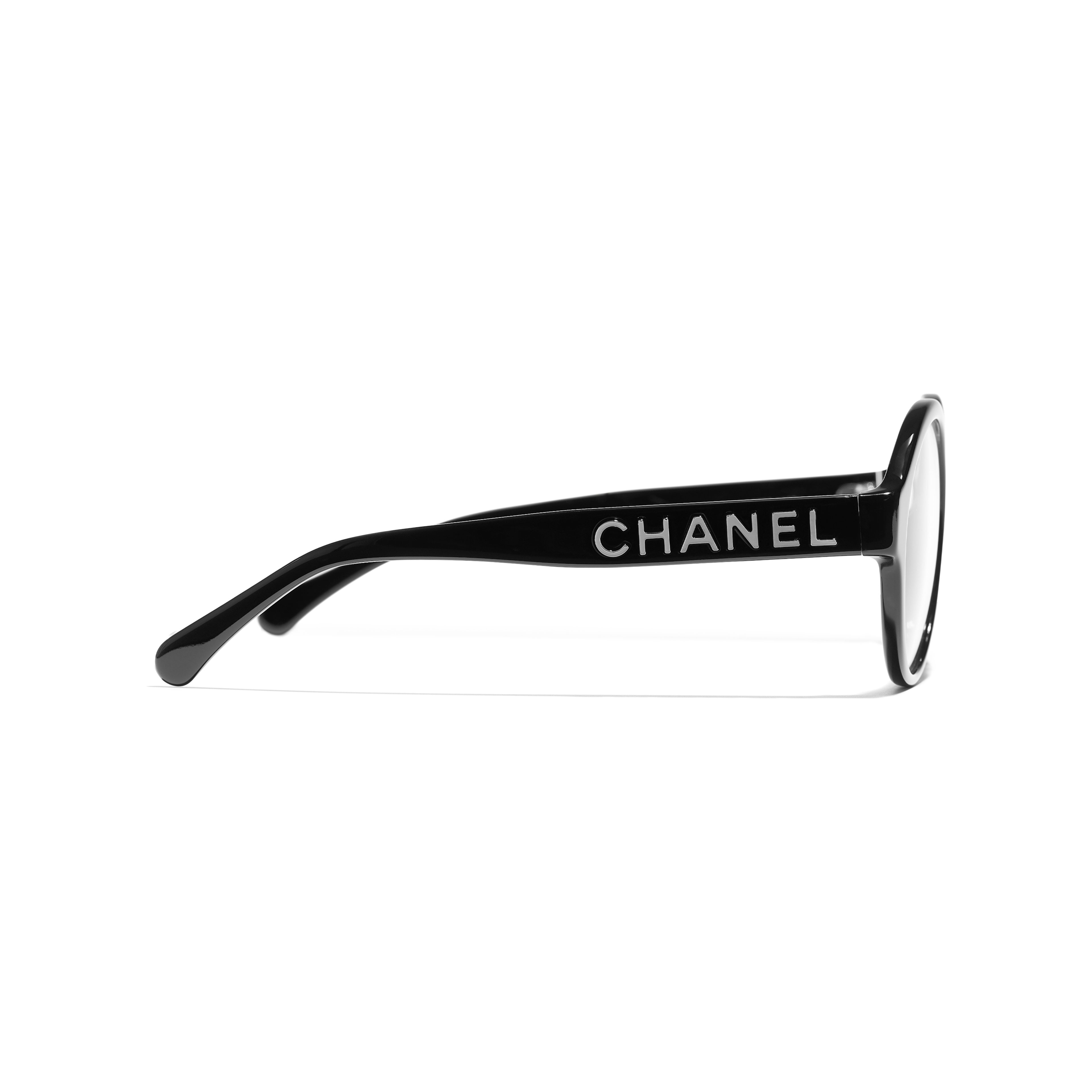 Round Eyeglasses - Black - Acetate - Other view - see standard sized version