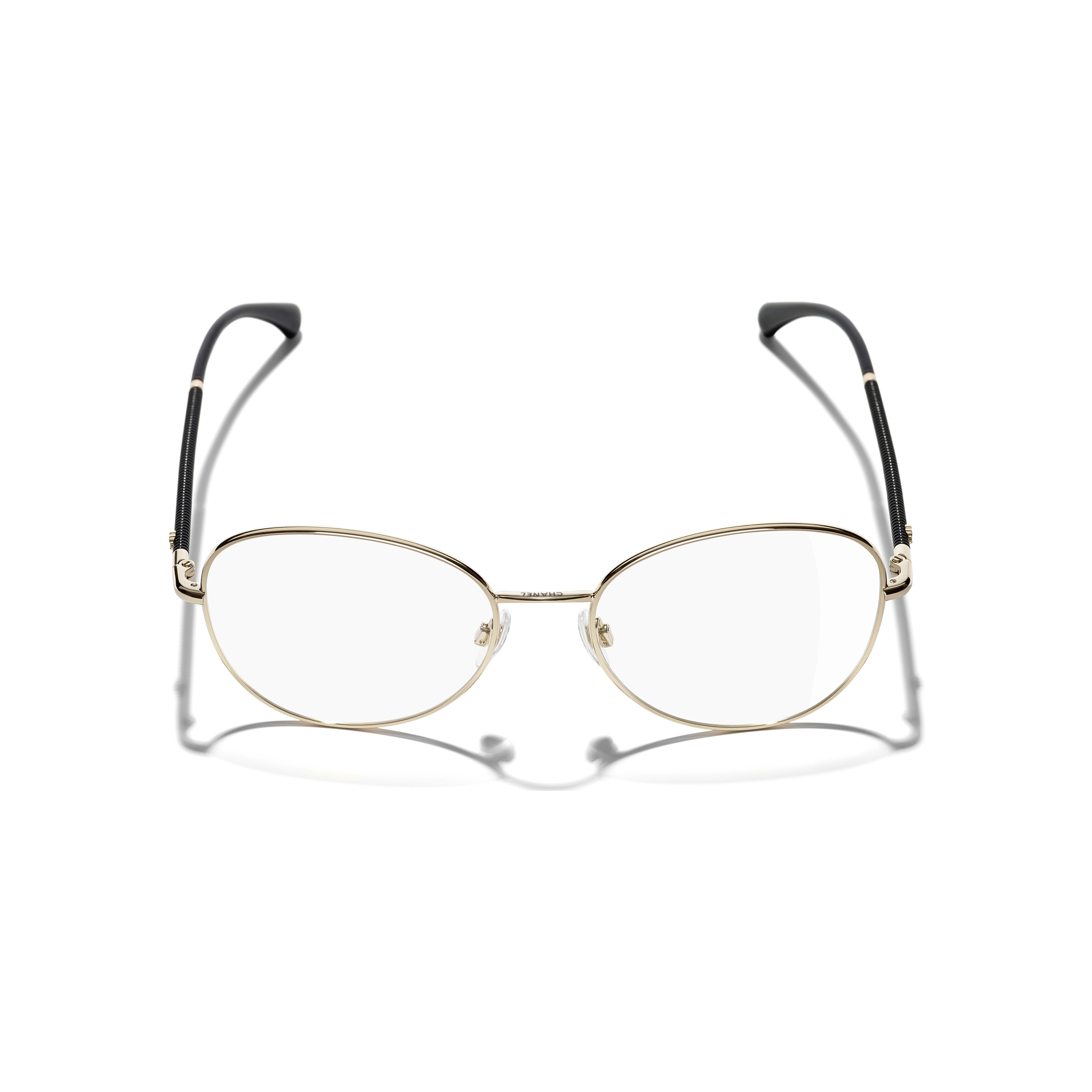 Round Eyeglasses - Gold - Metal - CHANEL - Extra view - see standard sized version
