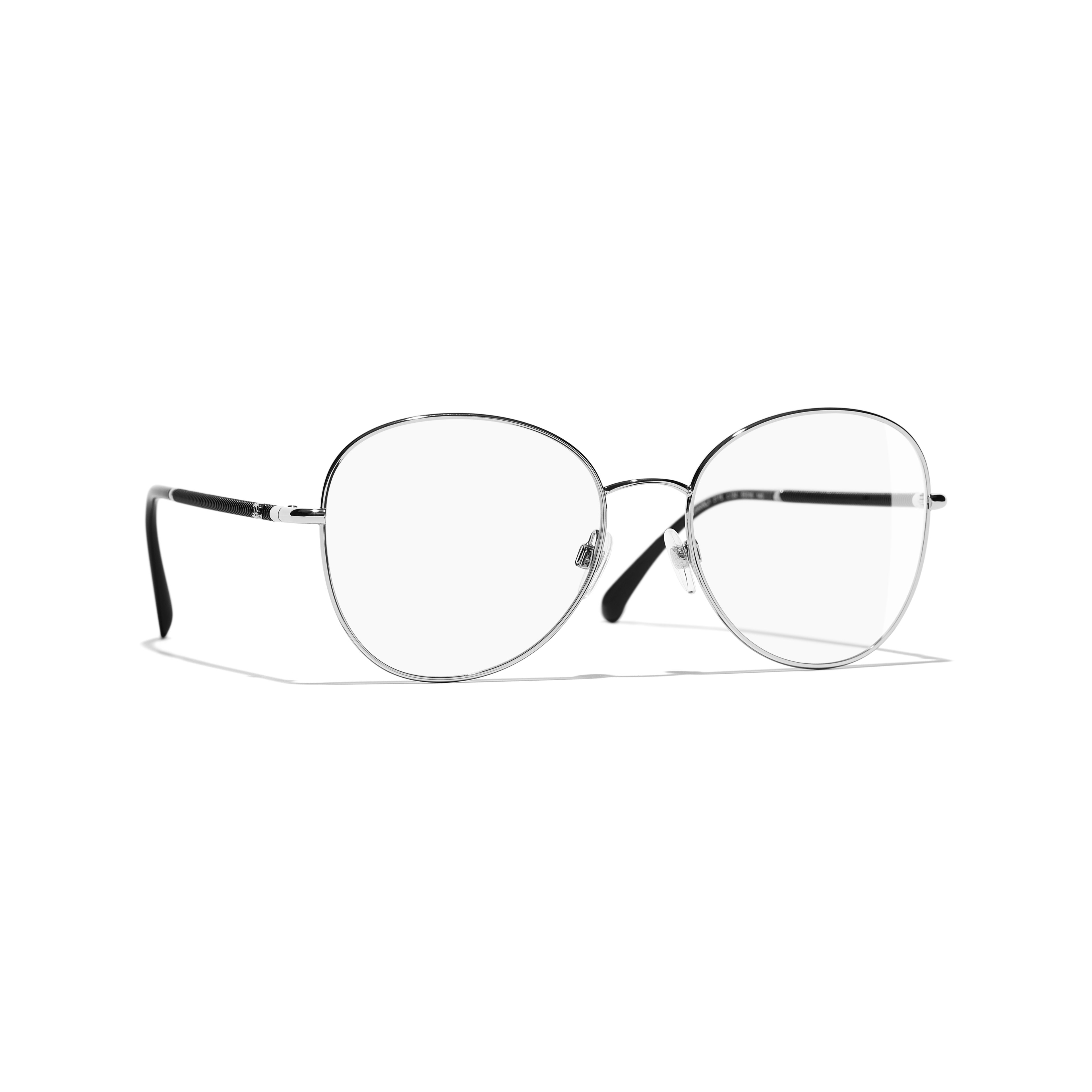 Round Eyeglasses - Silver - Metal - Default view - see standard sized version