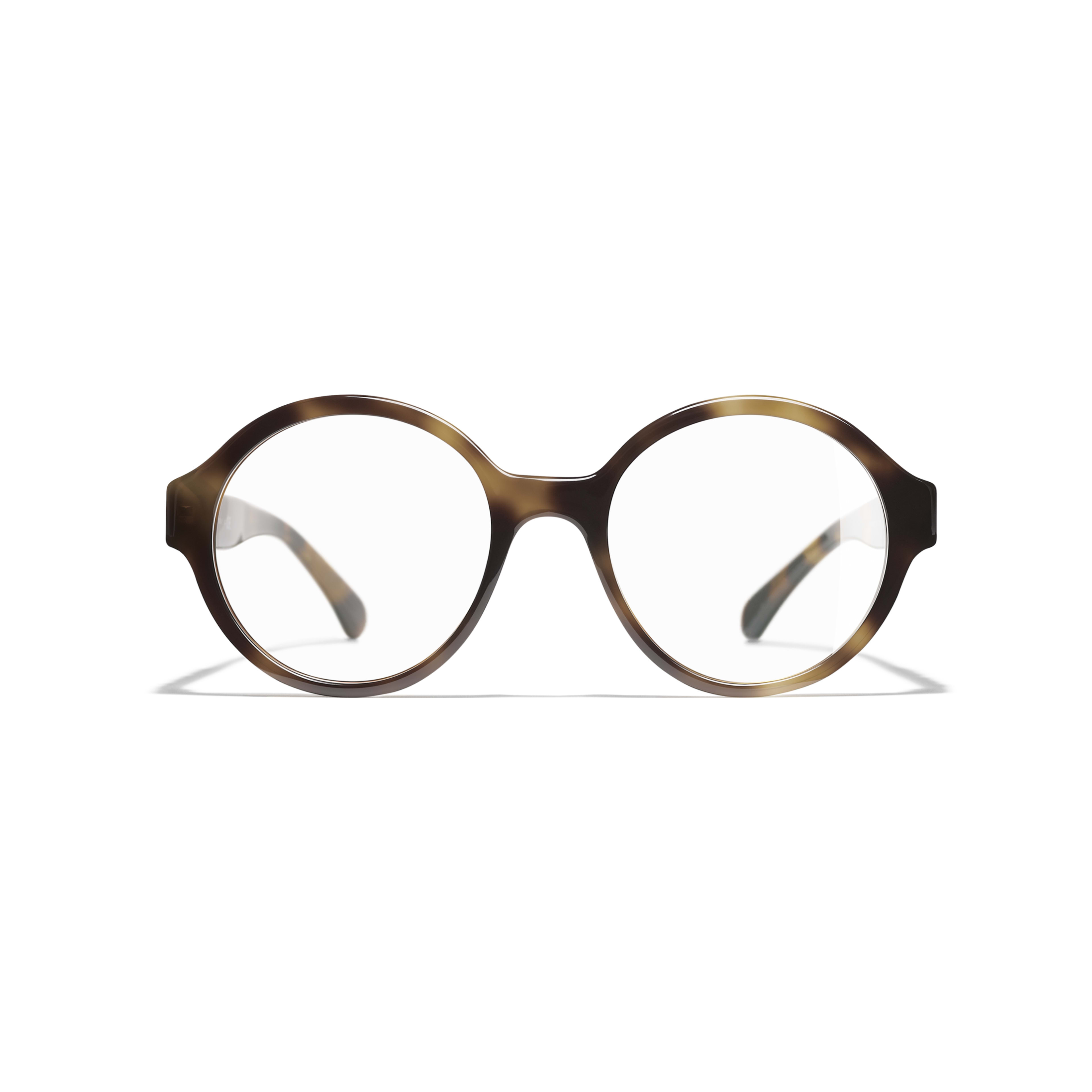 Round Eyeglasses - Tortoise - Acetate - CHANEL - Alternative view - see standard sized version